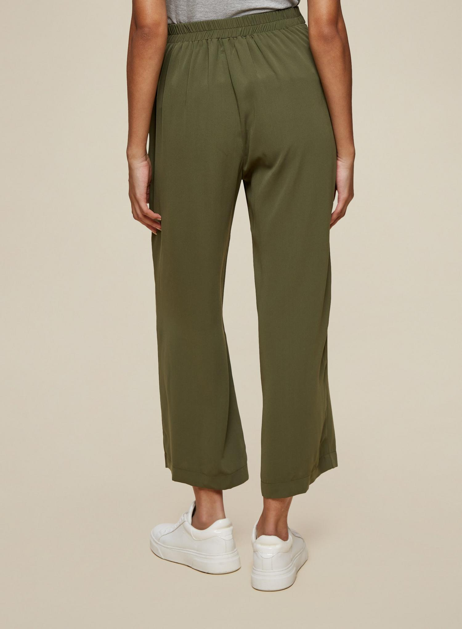 130 Tall Khaki Cropped Palazzo Trousers image number 2