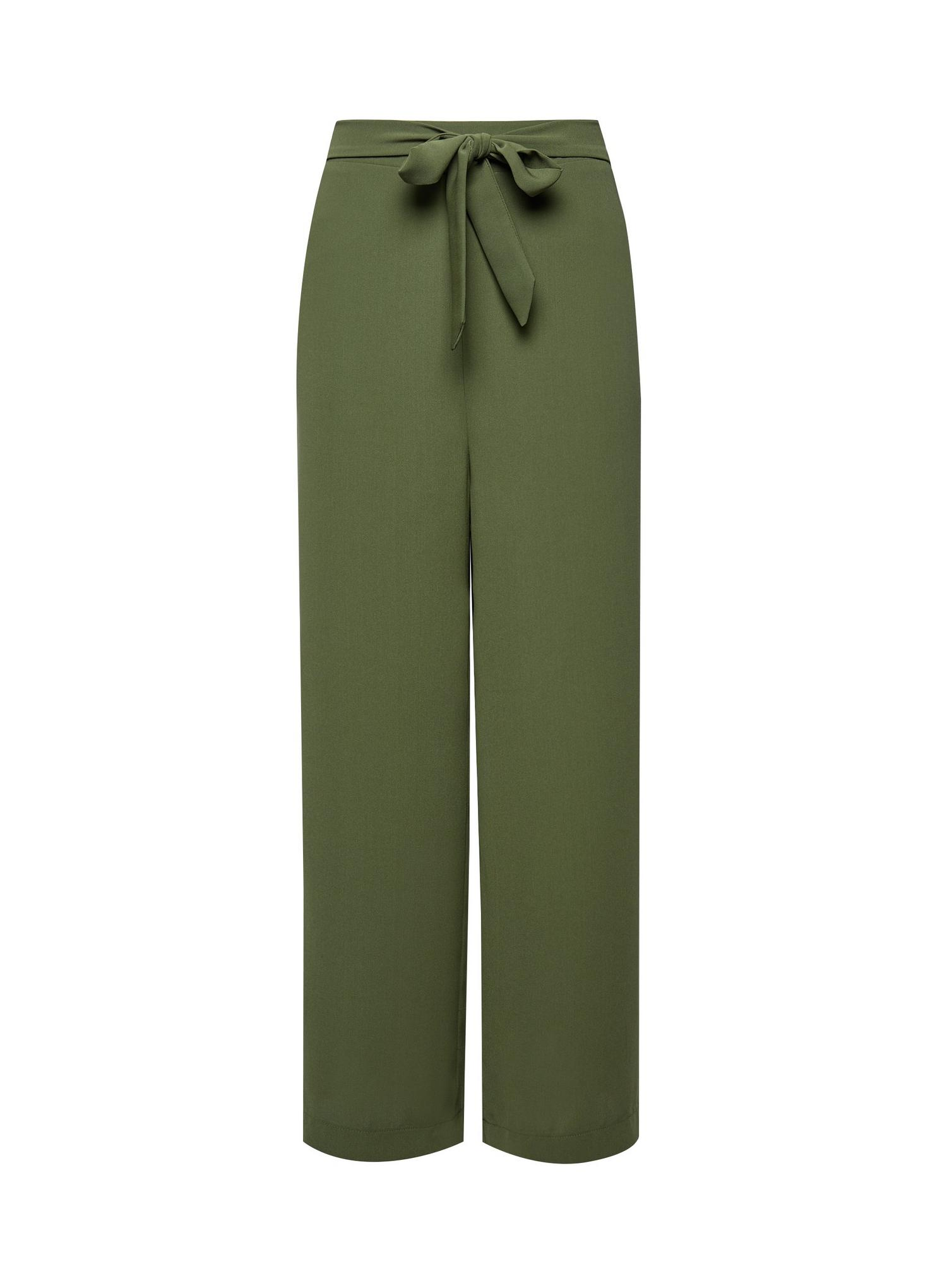 130 Tall Khaki Cropped Palazzo Trousers image number 4