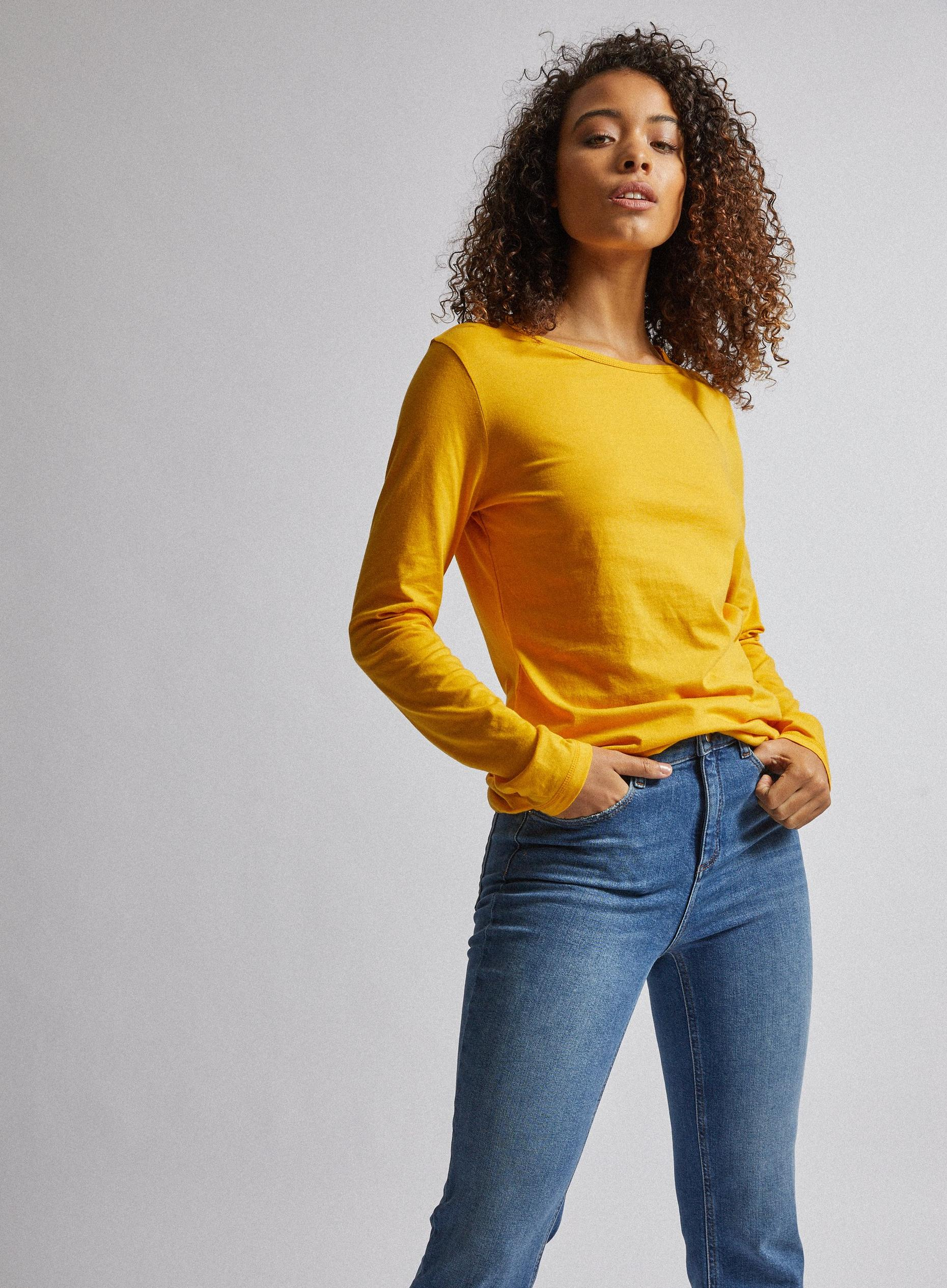 Tall Yellow Long Sleeve Top