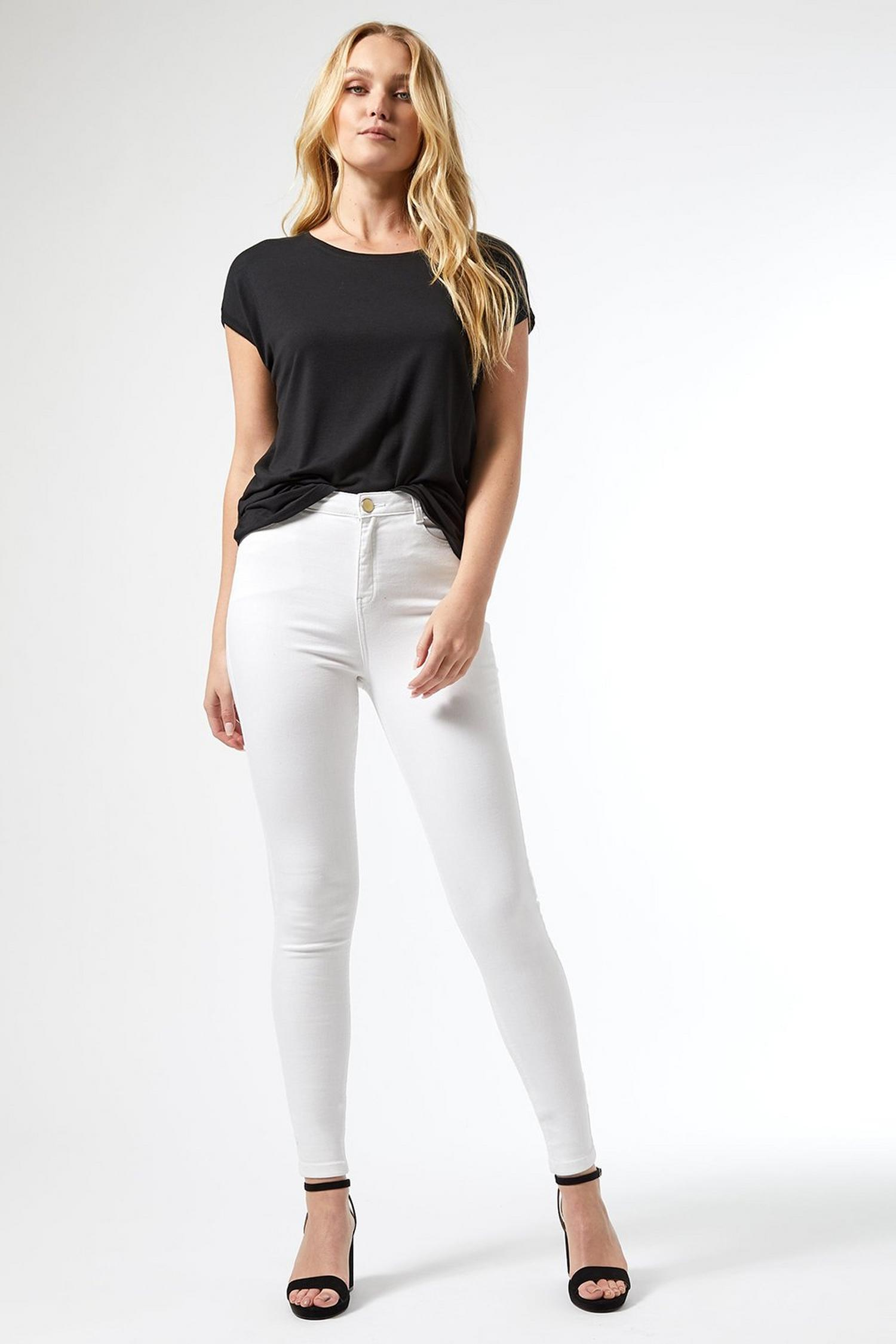 173 Tall White Shape and Lift Denim Jeans image number 1