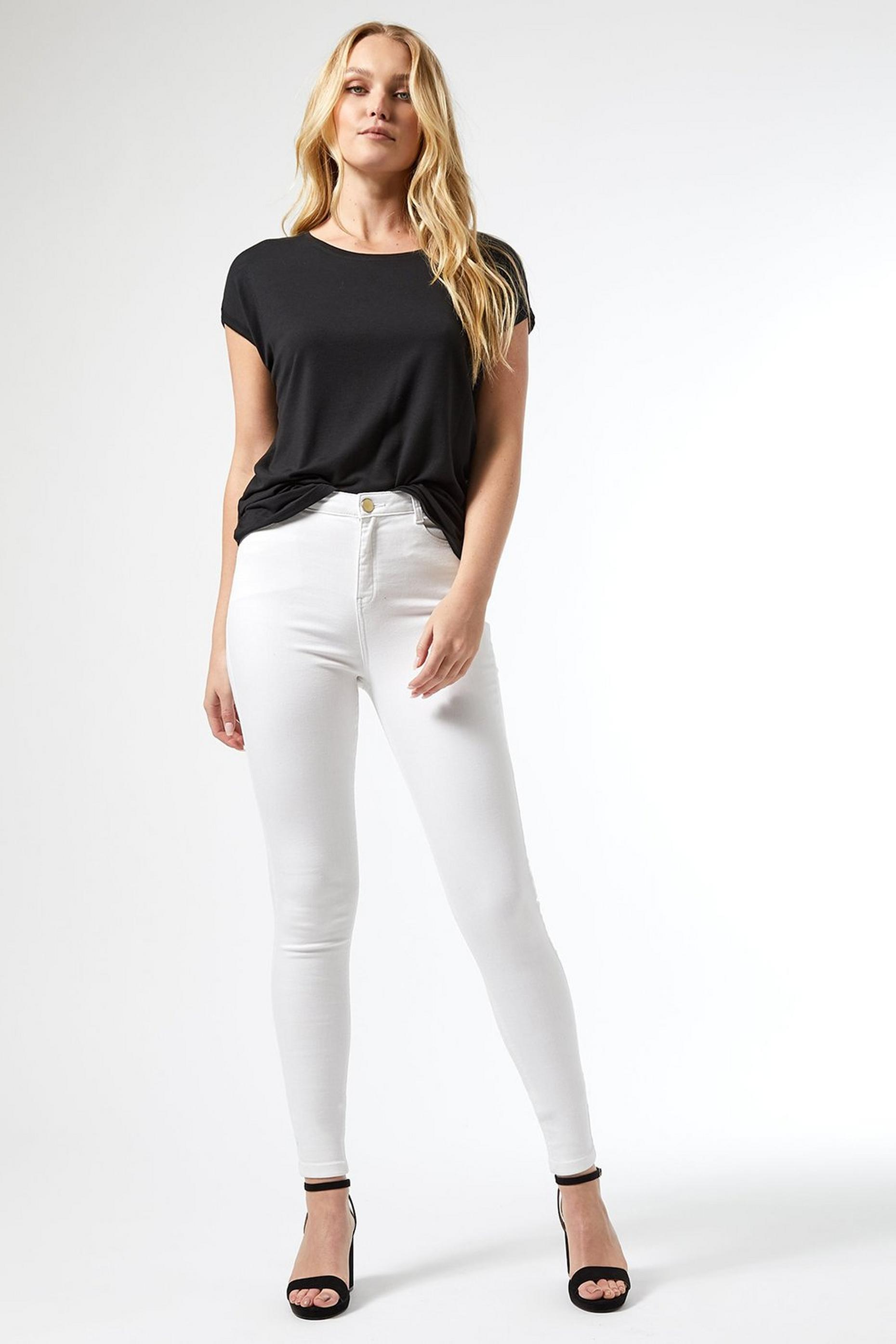 Tall White Shape and Lift Denim Jeans
