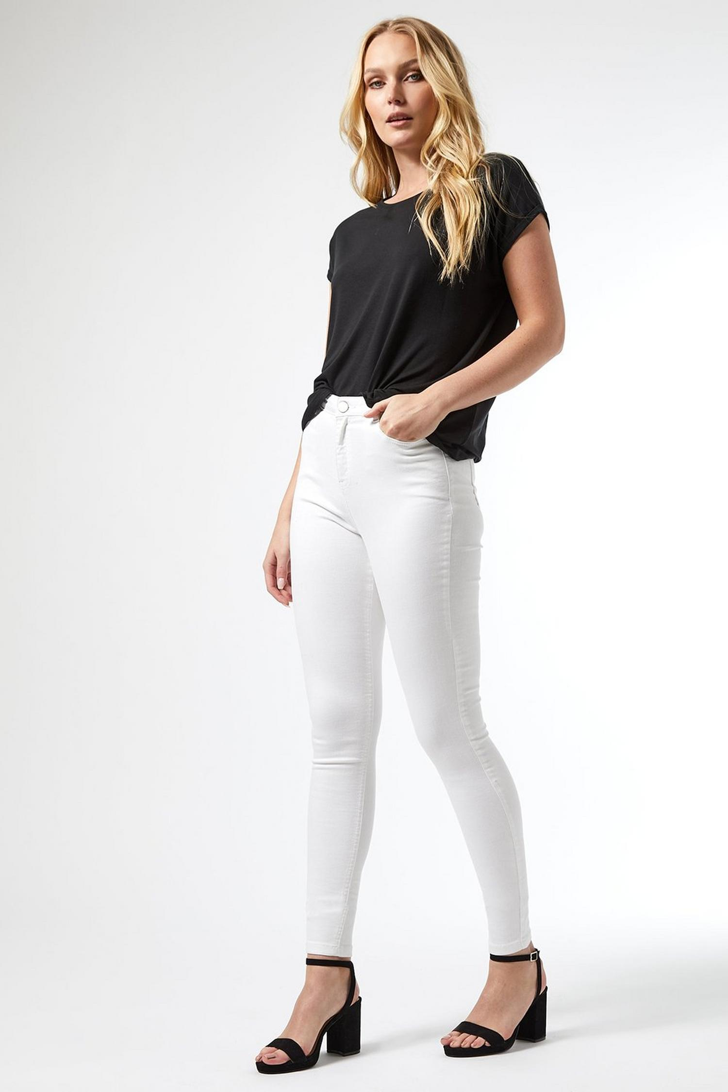 173 Tall White Shape and Lift Denim Jeans image number 2