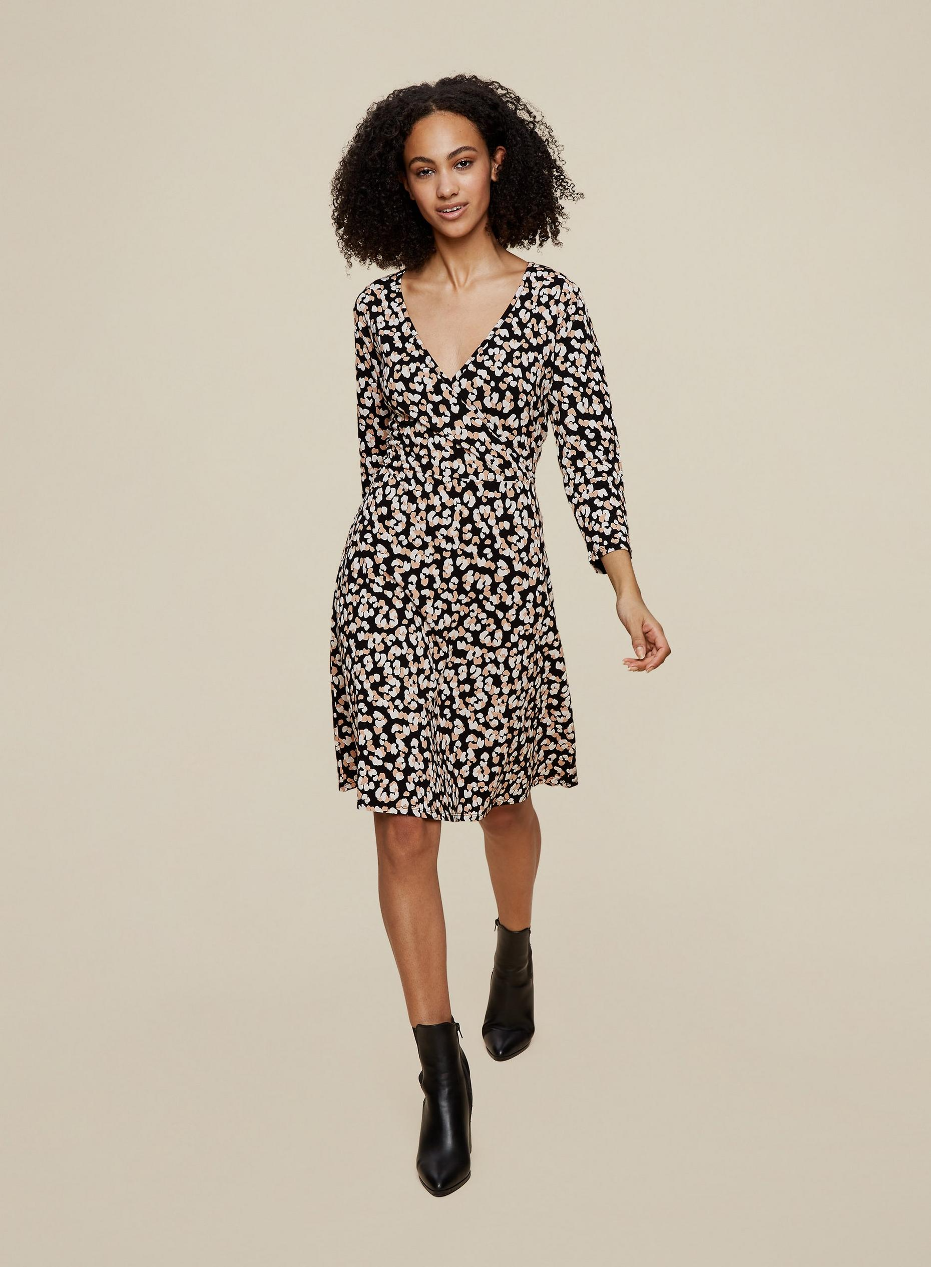 Tall Non Print Wrap Dress