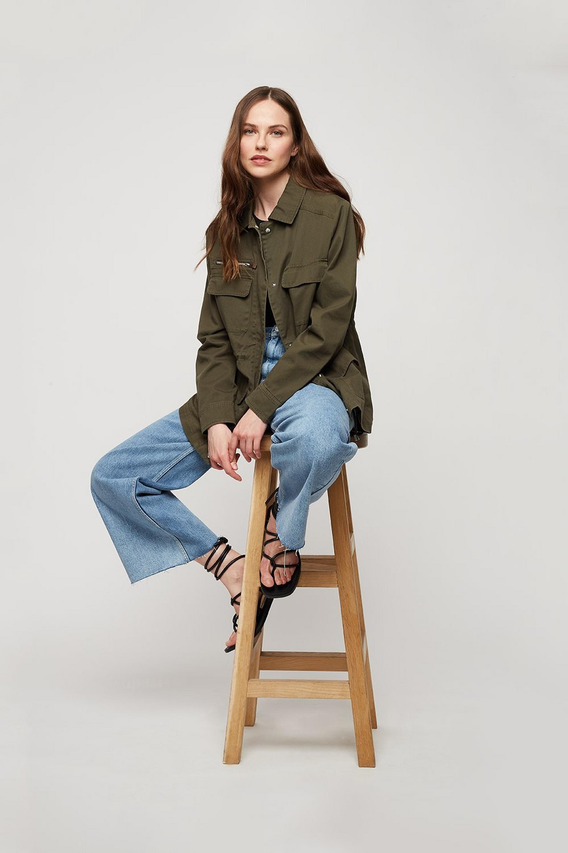 Sustainable Khaki Shacket