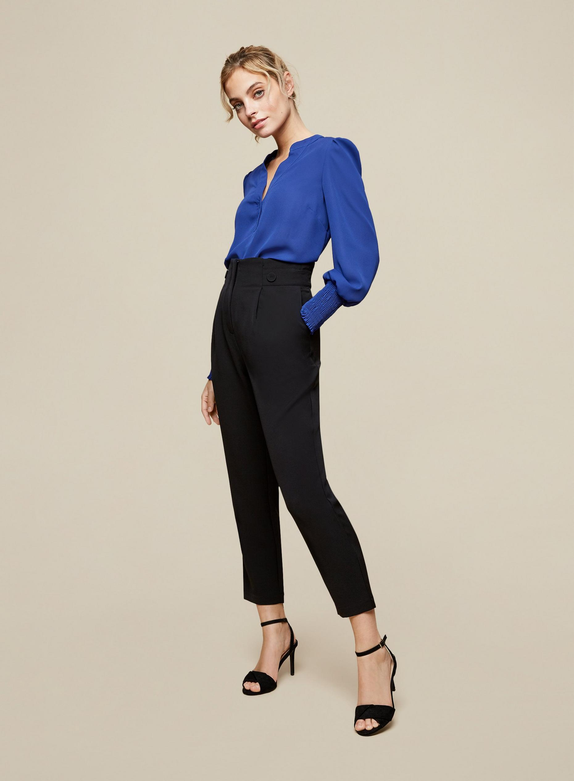 DP Petite Black Tailored Trousers