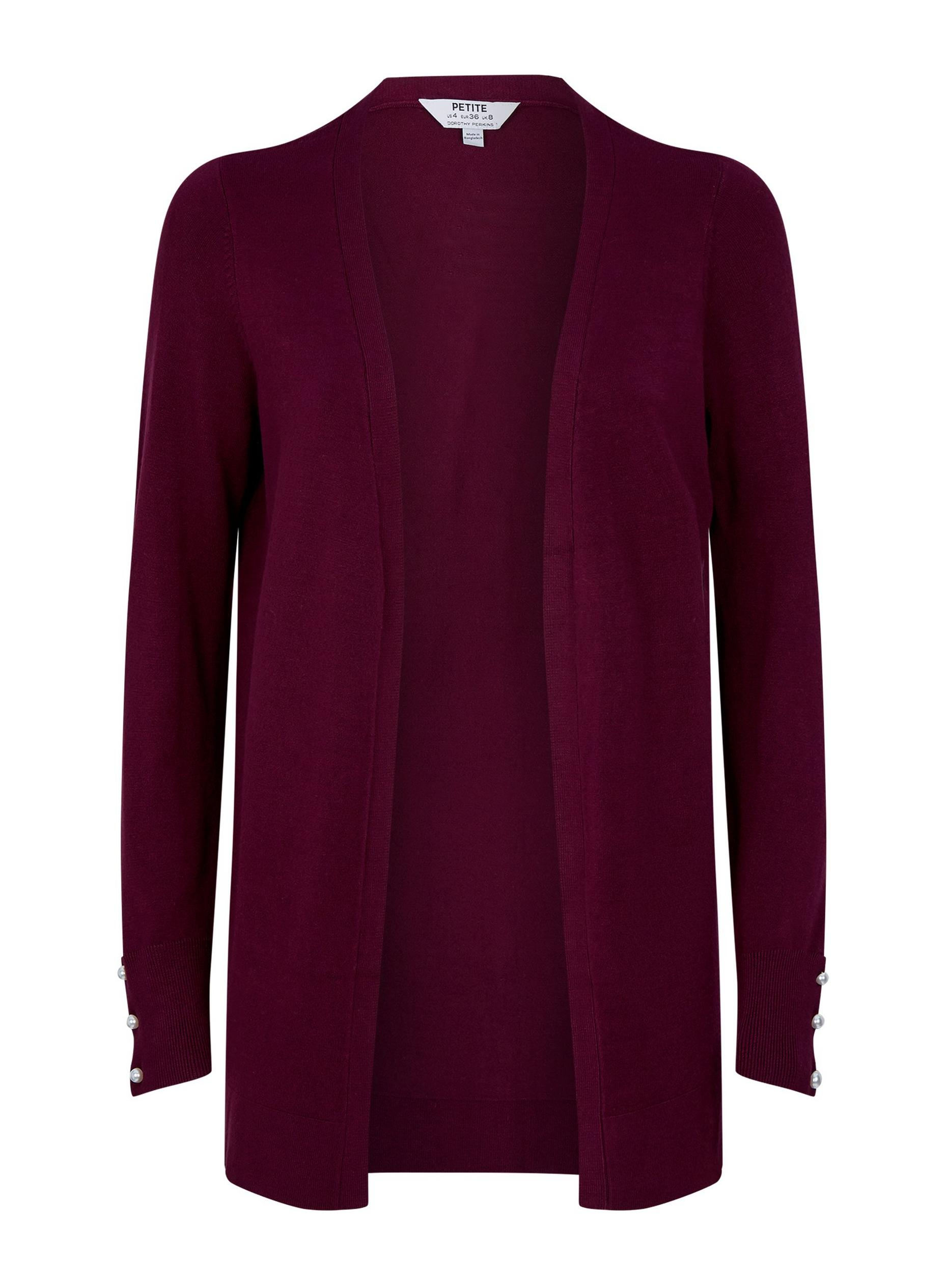 Petite Oxblood Long Cardigan
