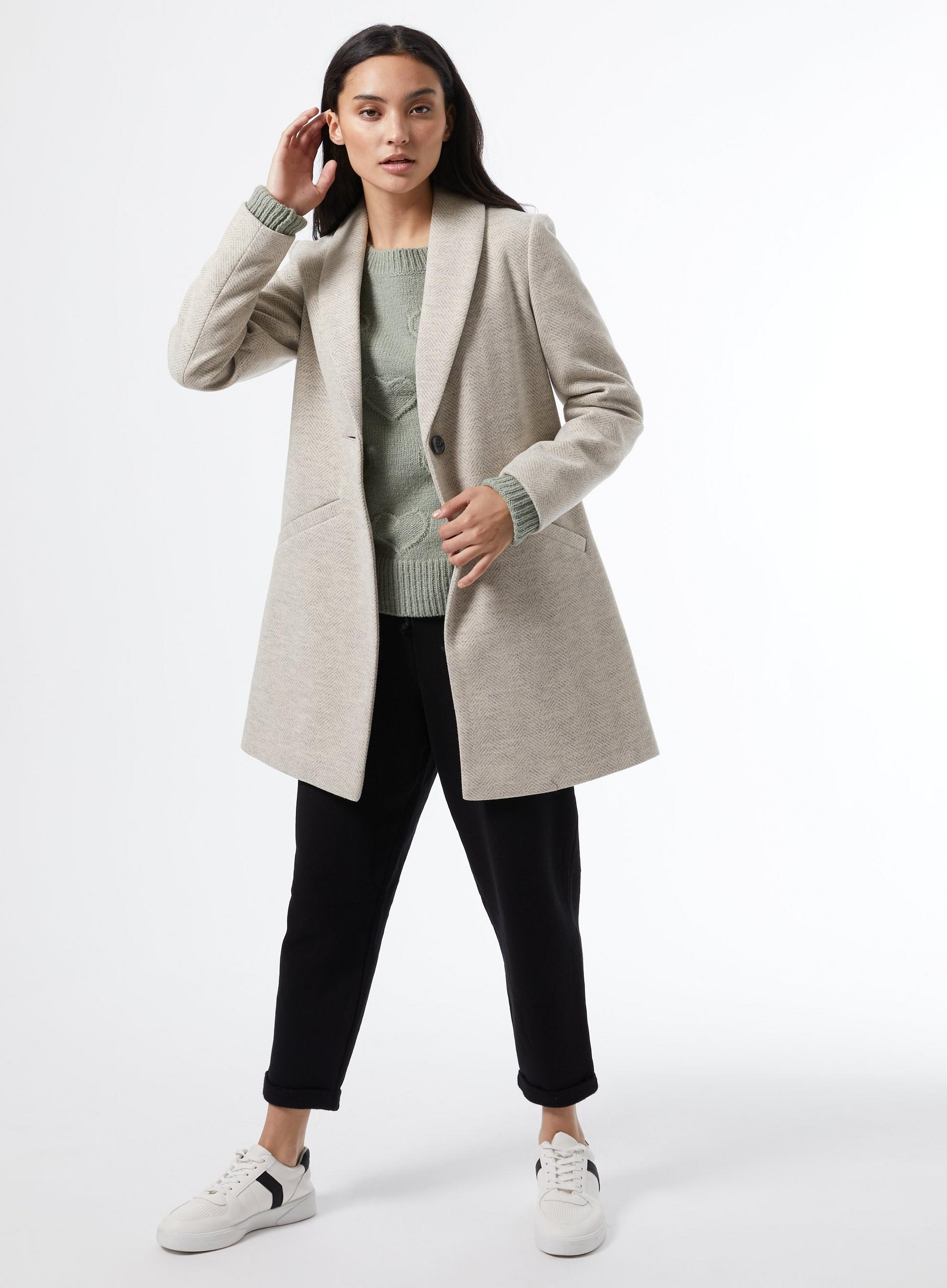 Petite Grey Shawl Collar Coat