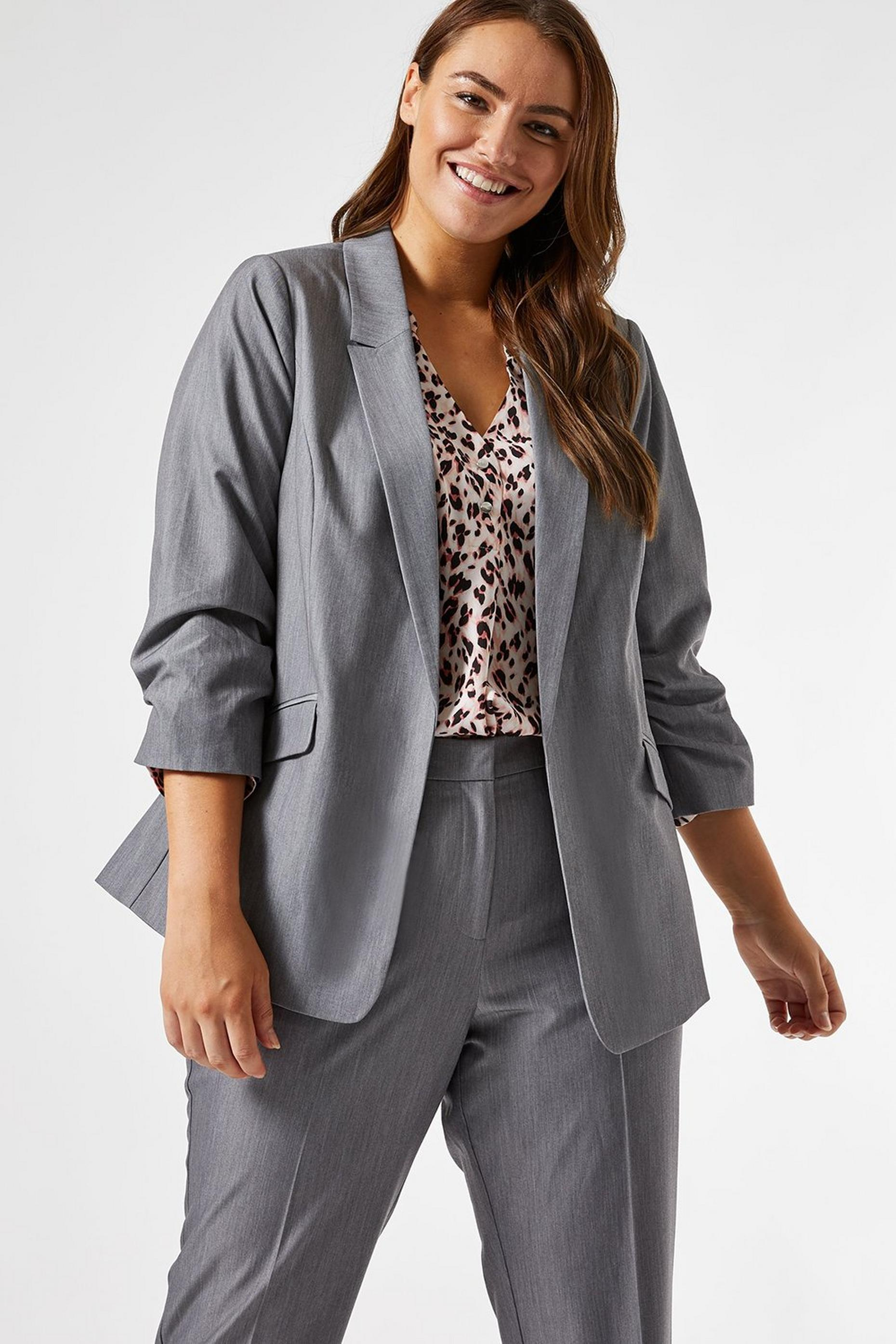 Curve Grey Edge To Edge  Jacket