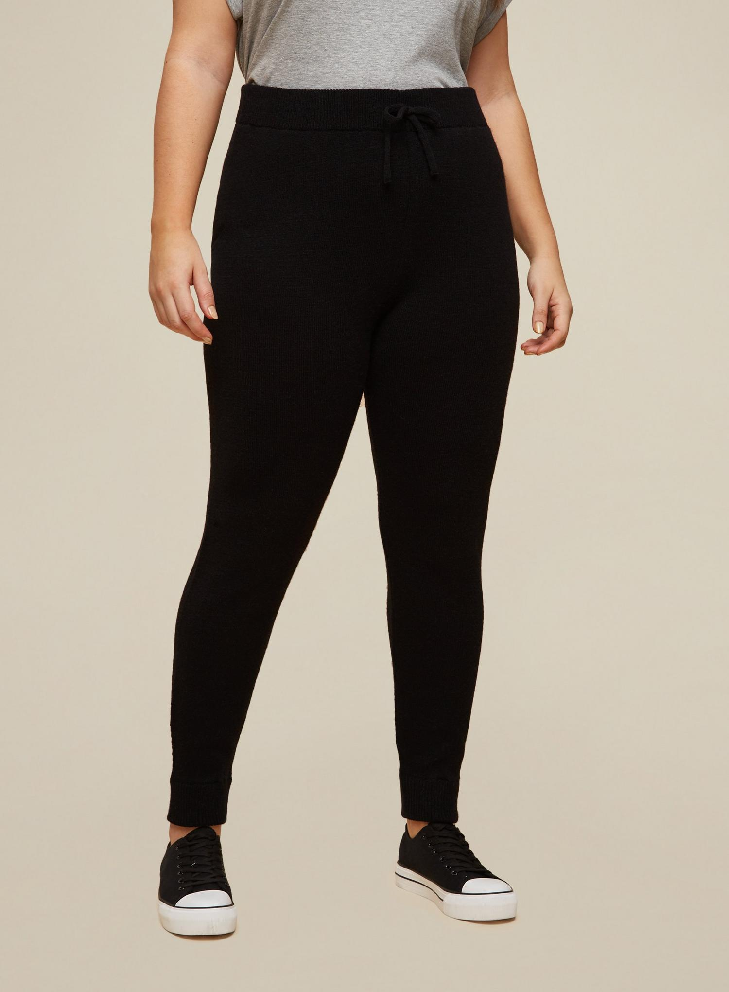 105 Curve Black Lounge Knitted Joggers image number 1