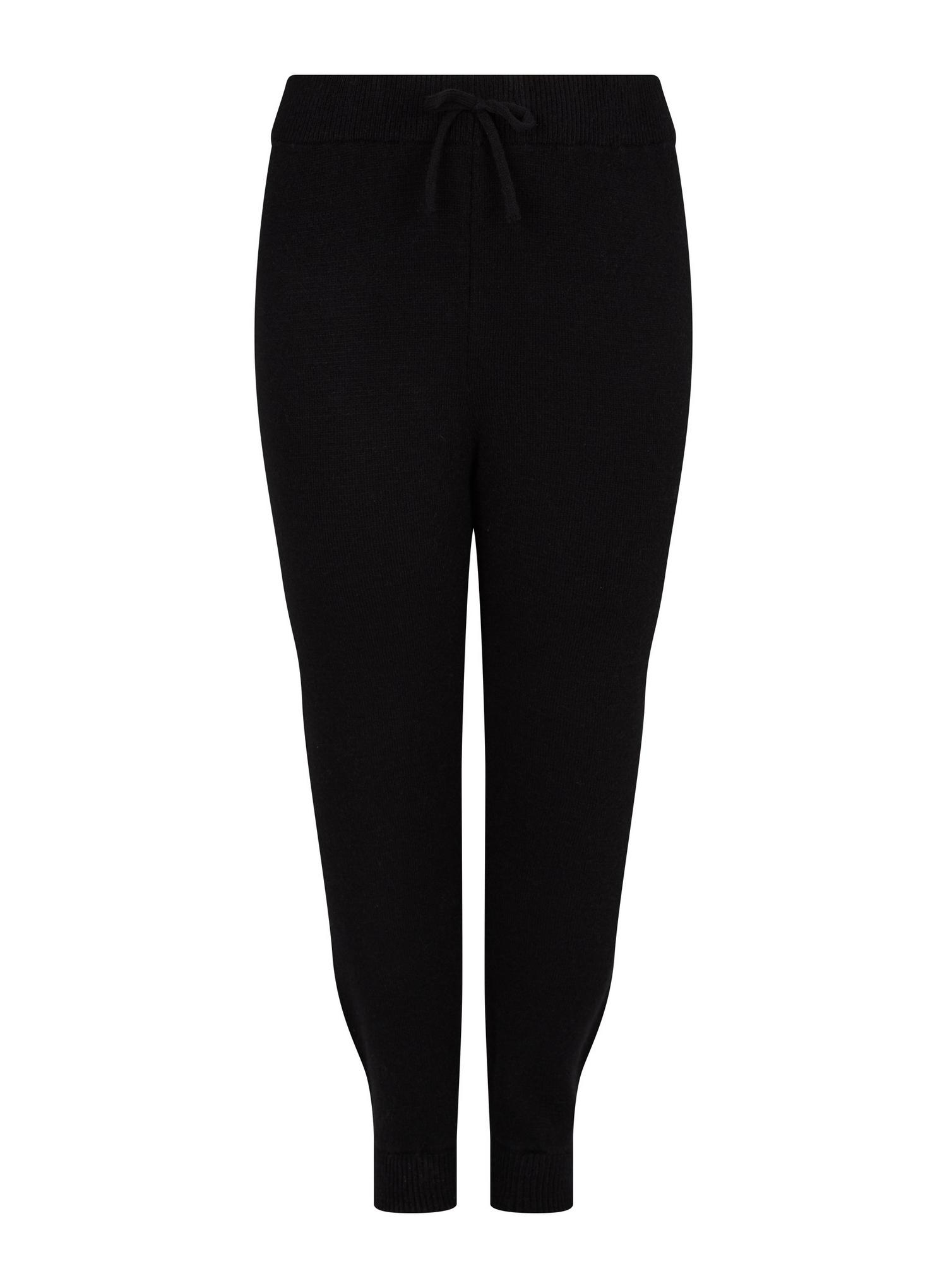 105 Curve Black Lounge Knitted Joggers image number 2
