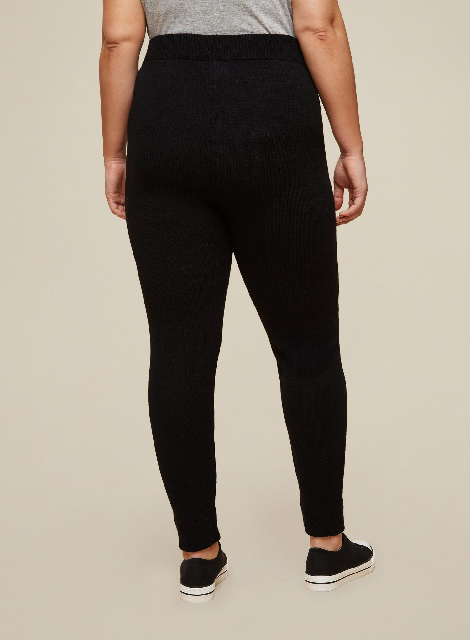 105 Curve Black Lounge Knitted Joggers image number 4