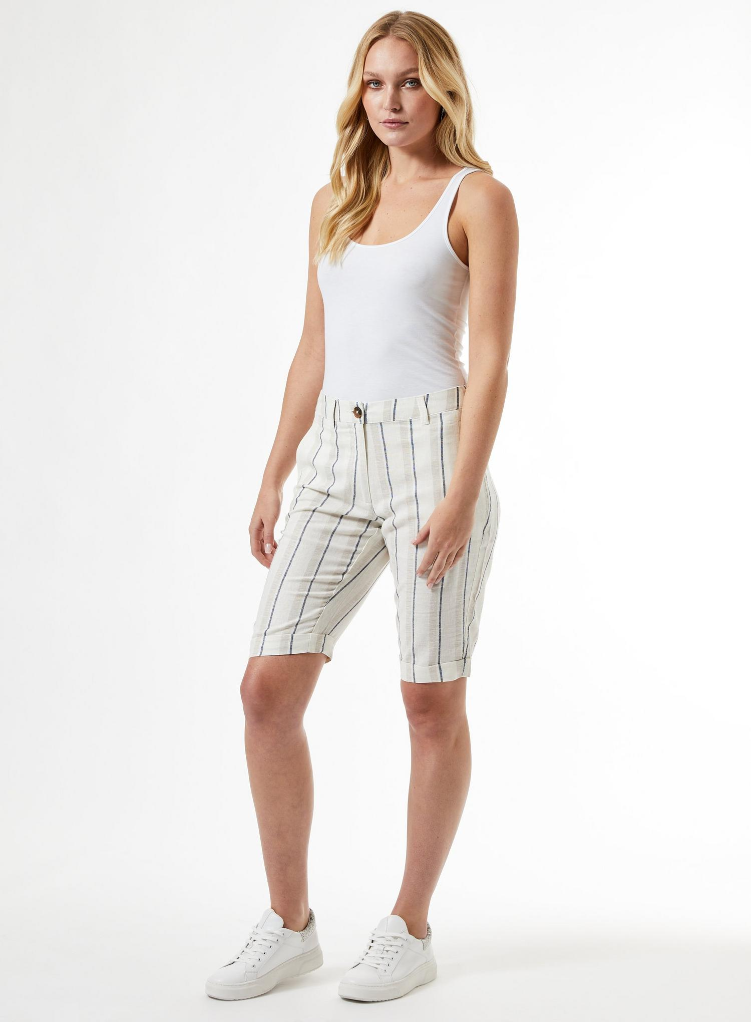 148 Tall Navy Striped Shorts image number 1
