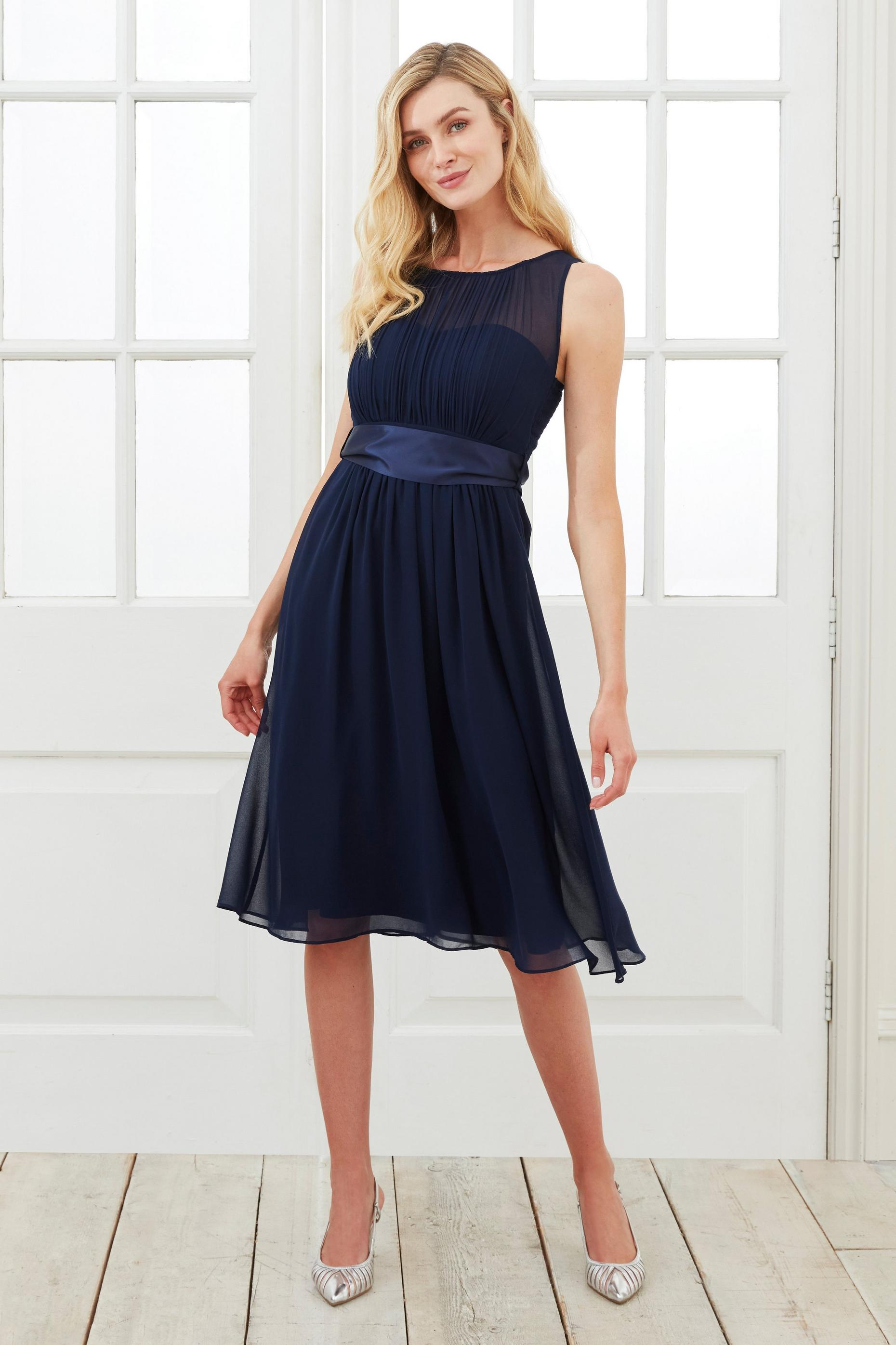 Navy Bethany Midi Dress
