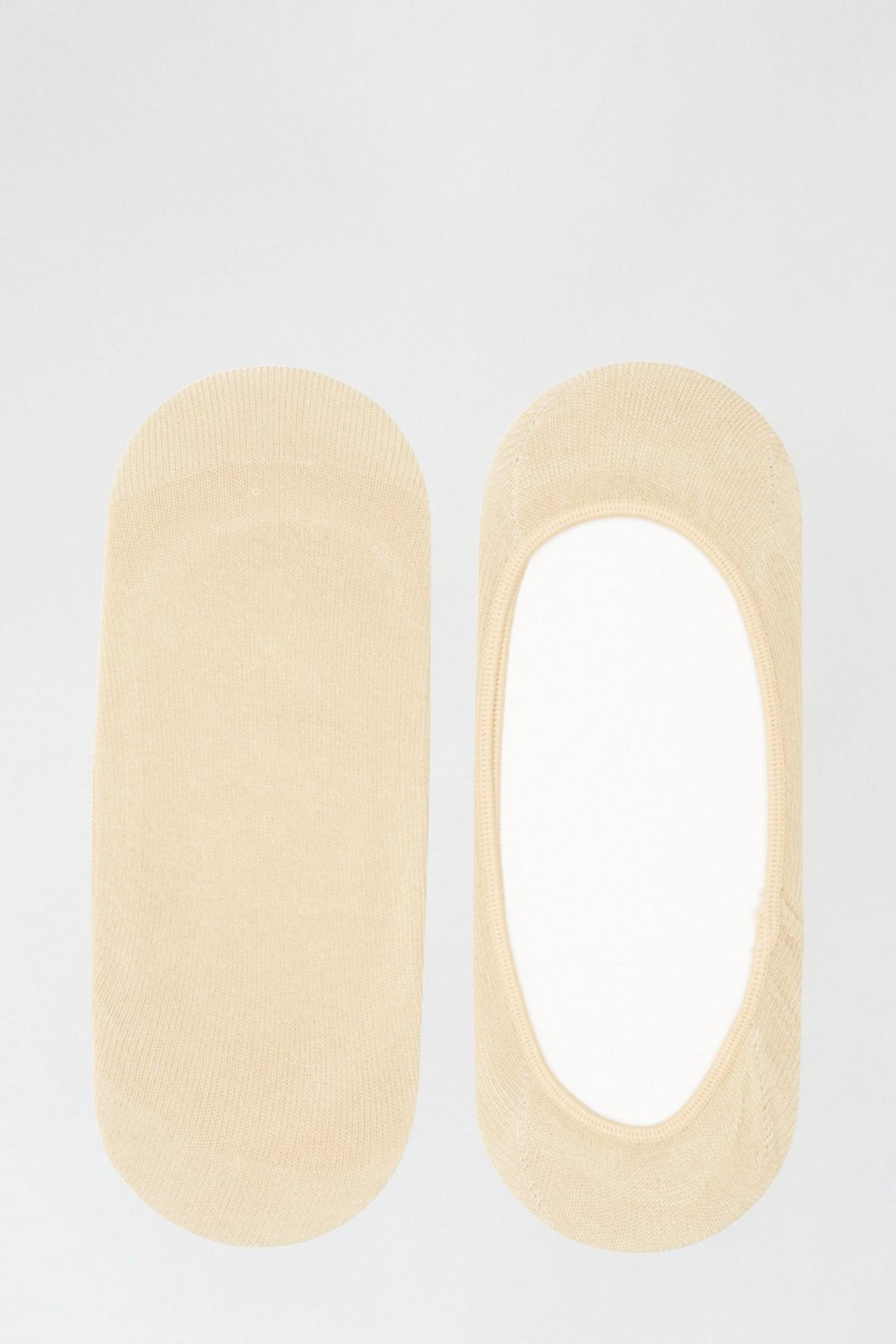 2 Pack Beige Footsies With Organic Cotton