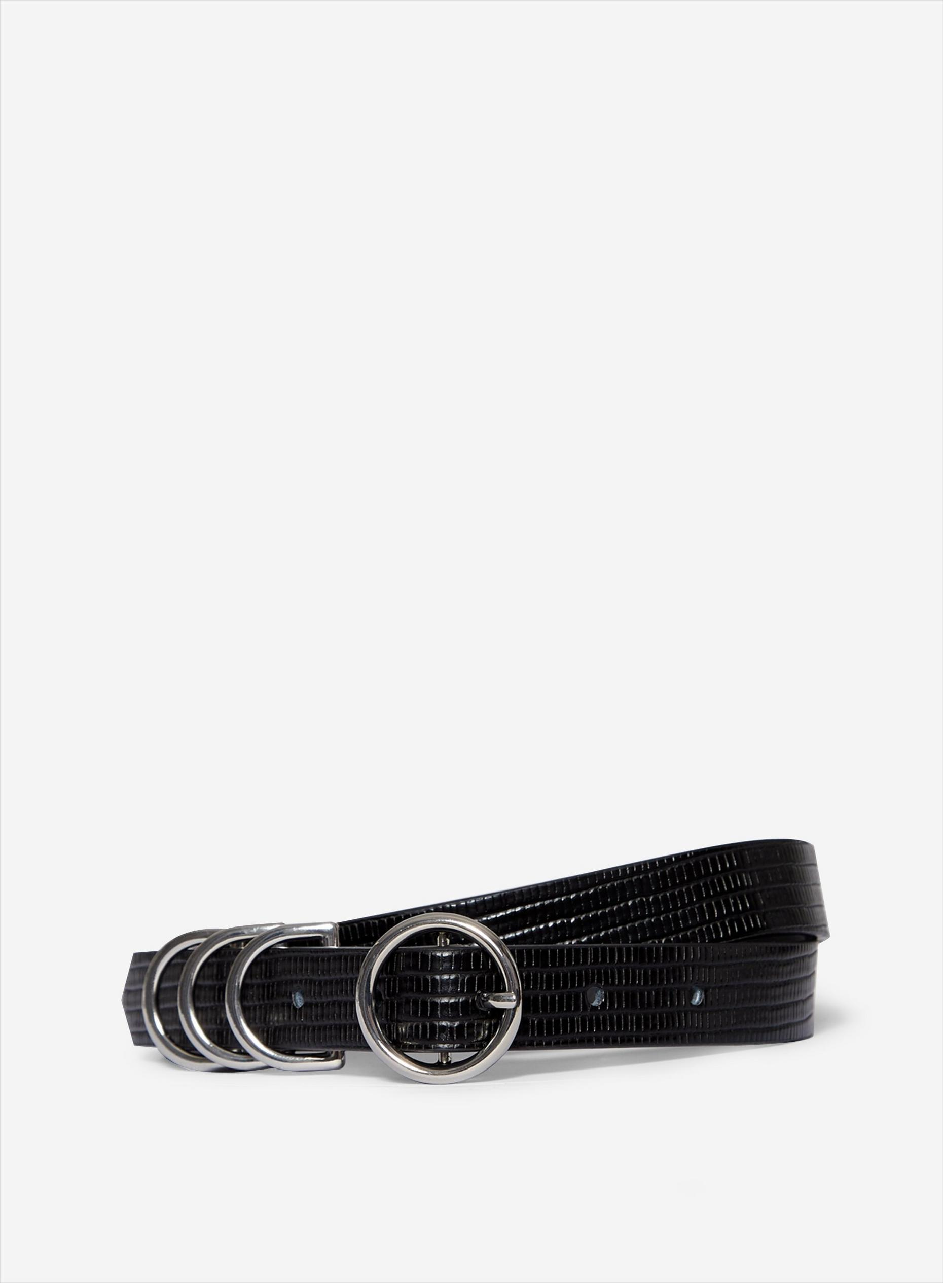 Black Multi Buckle Belt