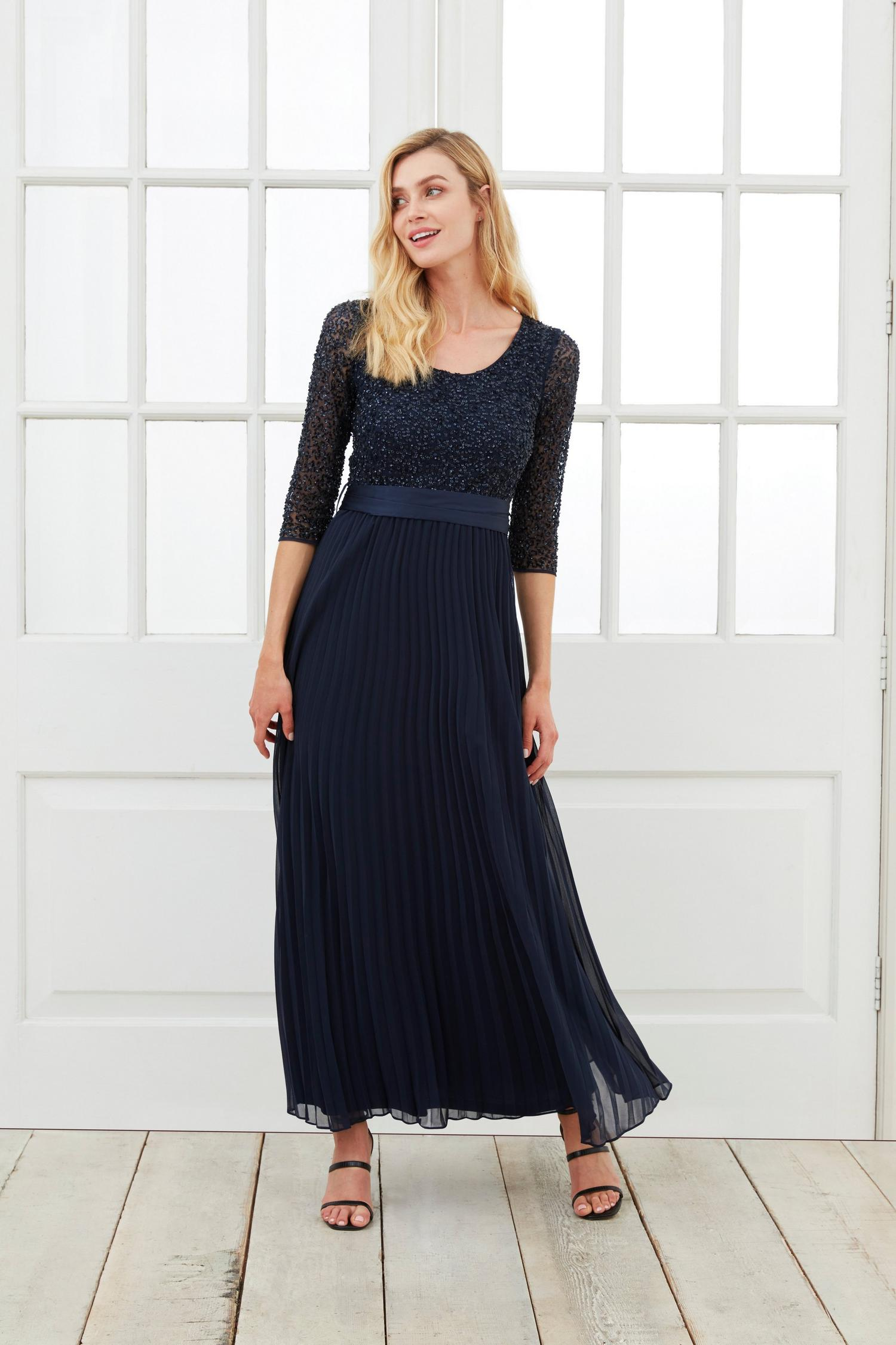 148 Sequin Pleated Maxi Dress image number 1