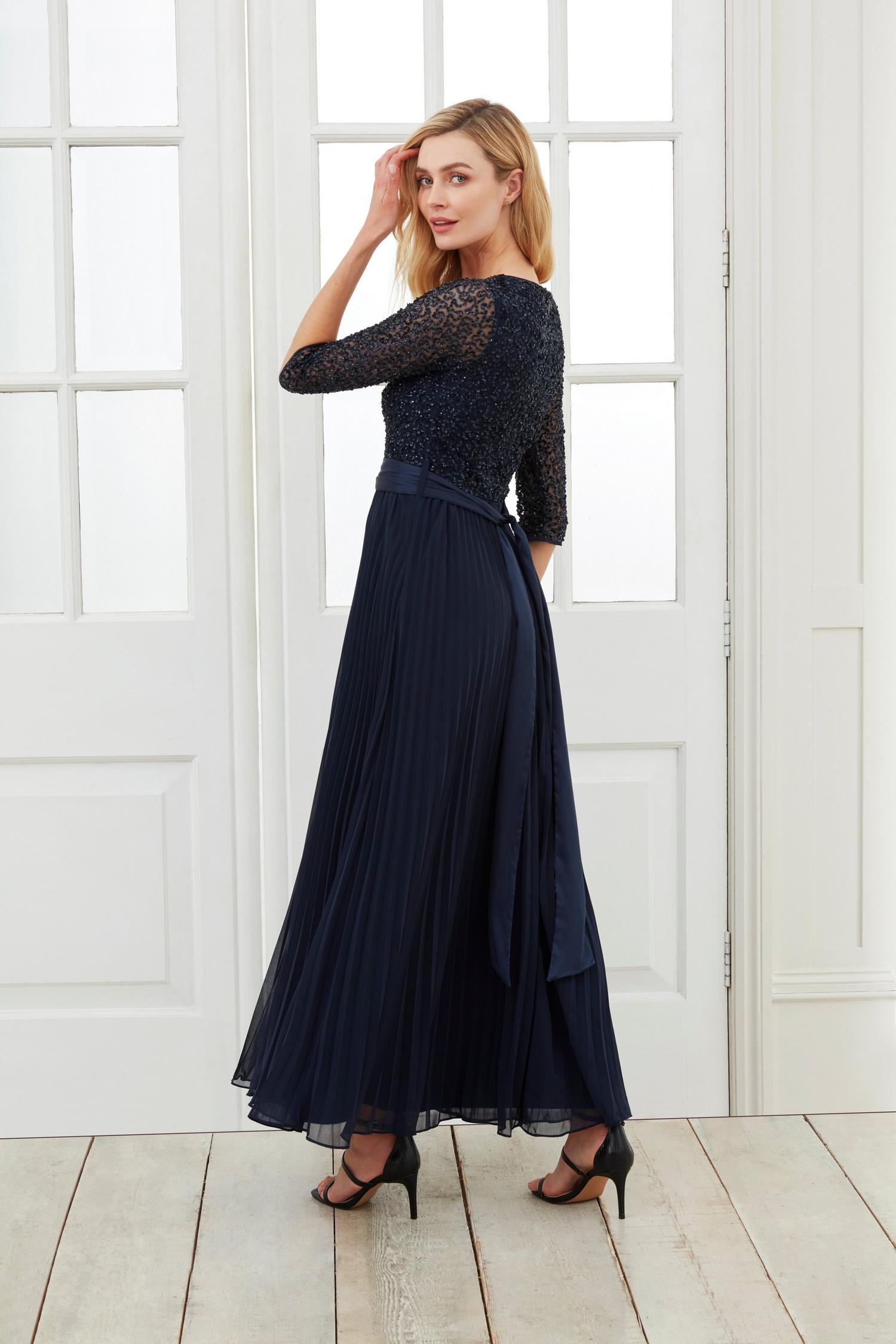 148 Sequin Pleated Maxi Dress image number 3