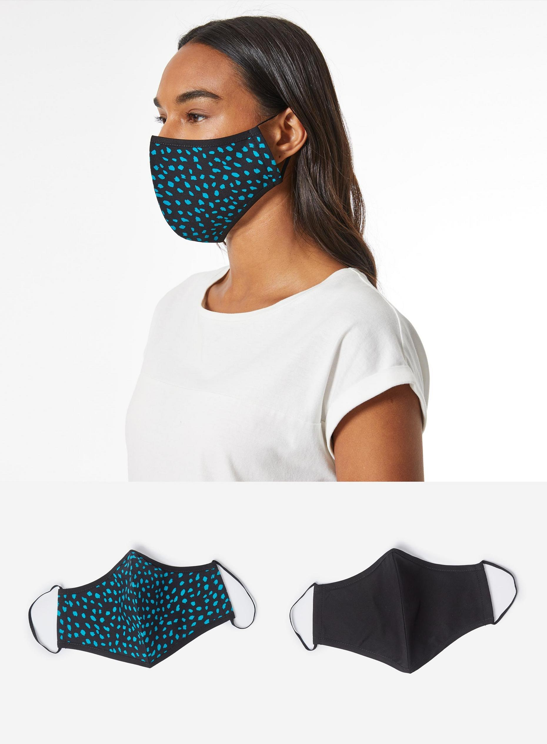 Green and Black 2 Pack Face Covering
