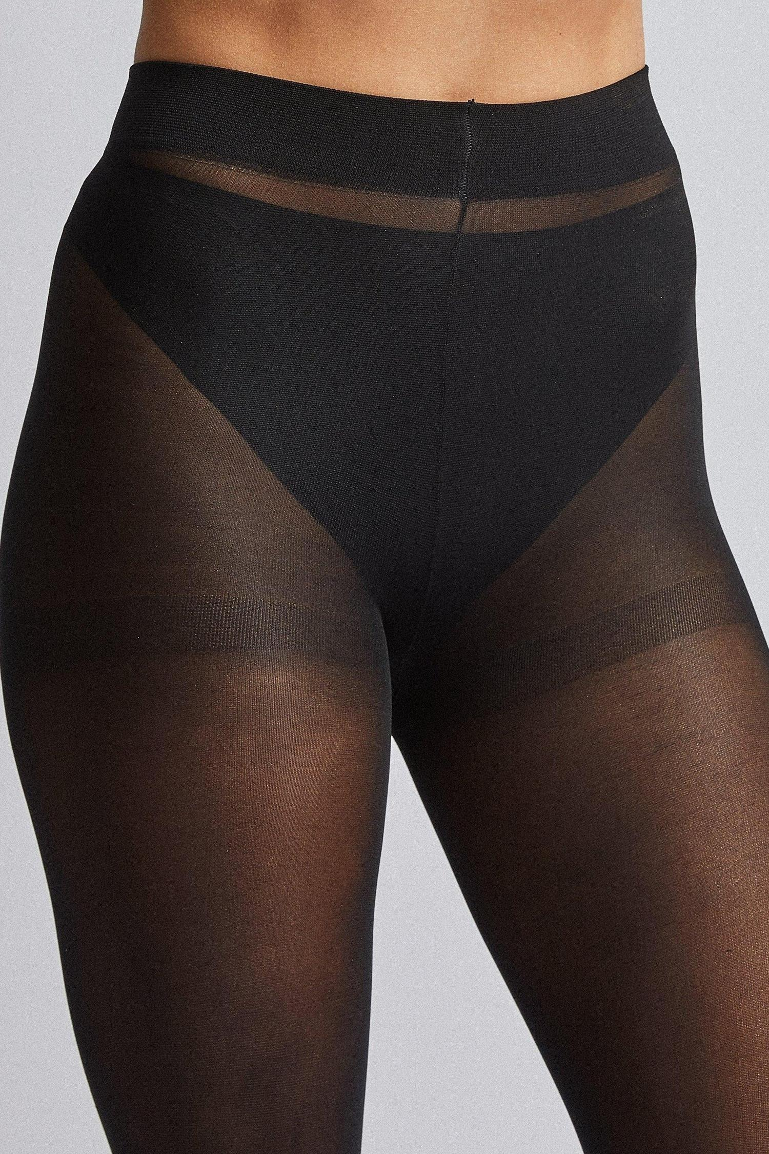 105 Black 40 Denier two Pack Tights image number 3