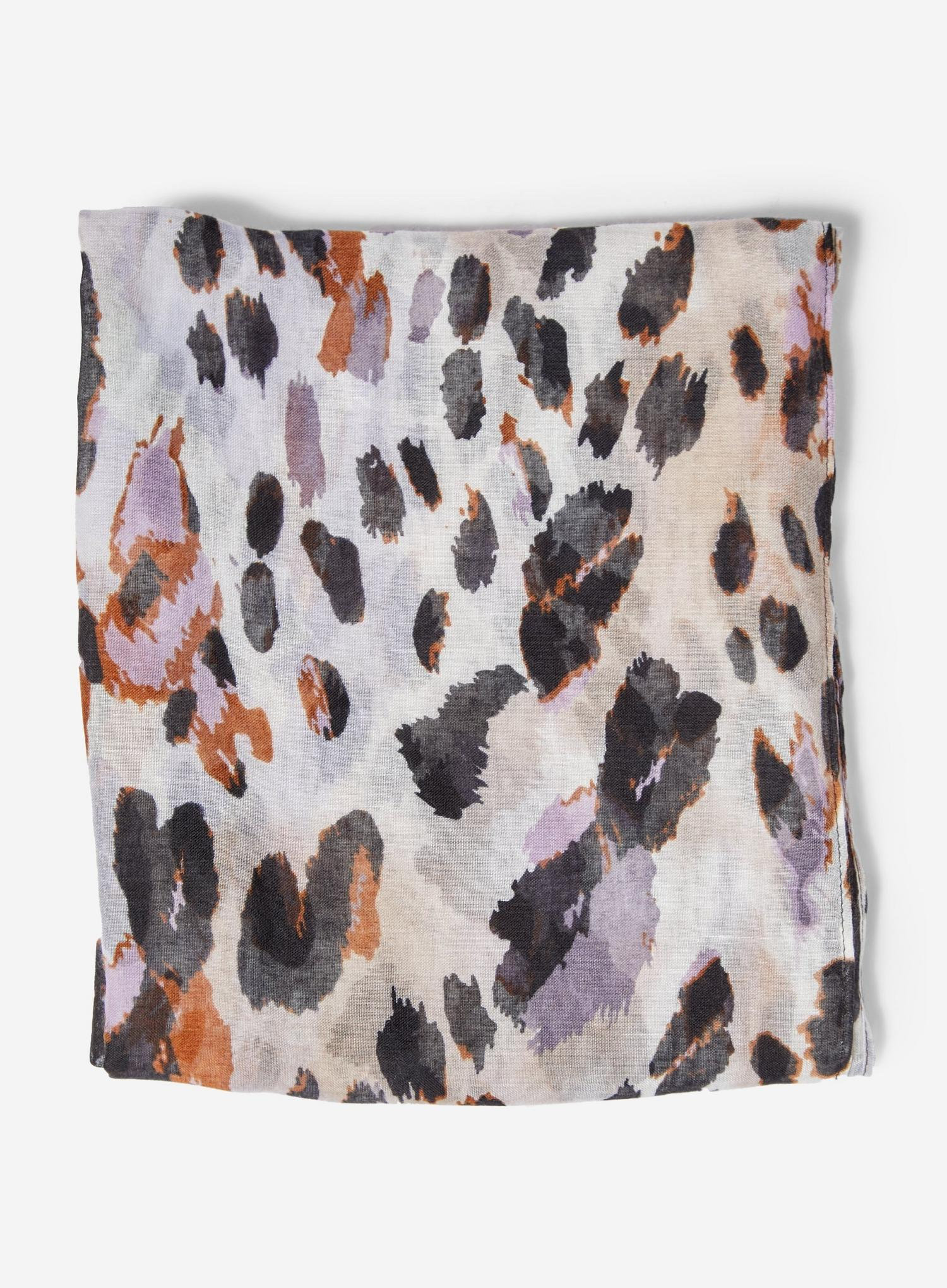 144 Multi Colour Leopard Print Lightweight Scarf image number 1