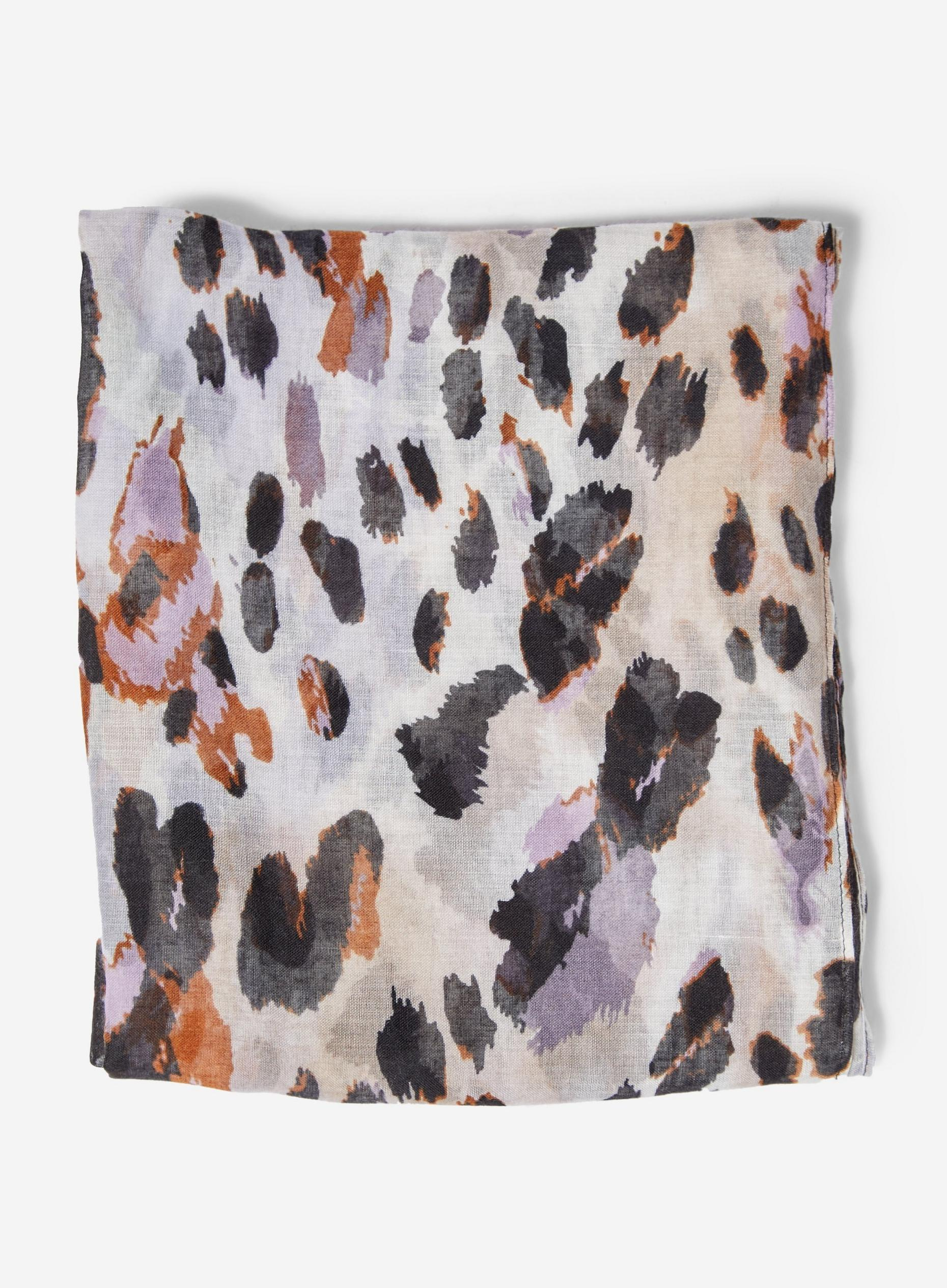 Multi Colour Leopard Print Lightweight Scarf