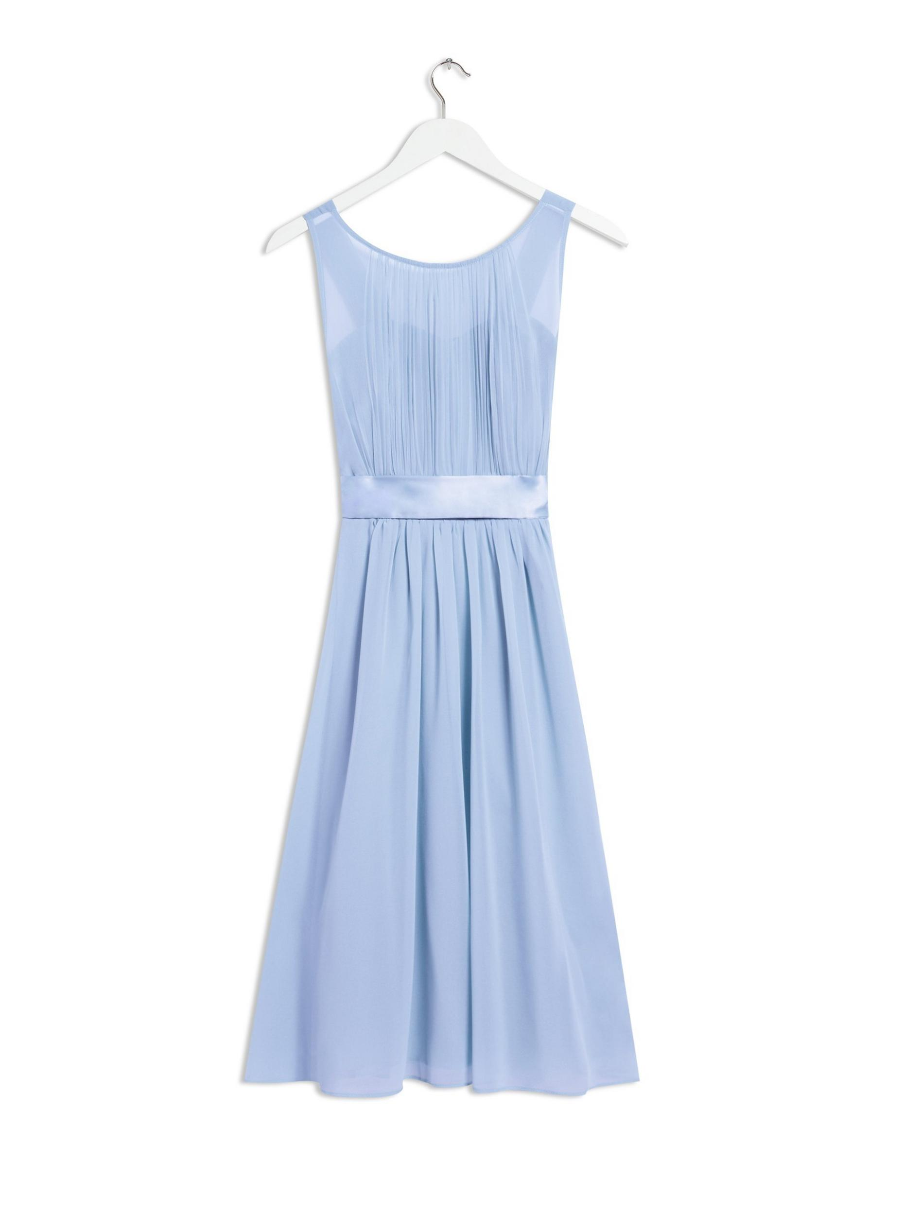 Blue Bethany Bridesmaid Midi Skater Dress