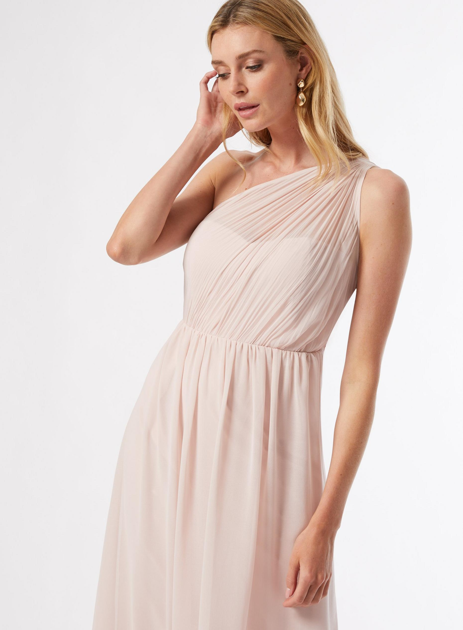 Maternity Blush Sadie One Shoulder Maxi Dress