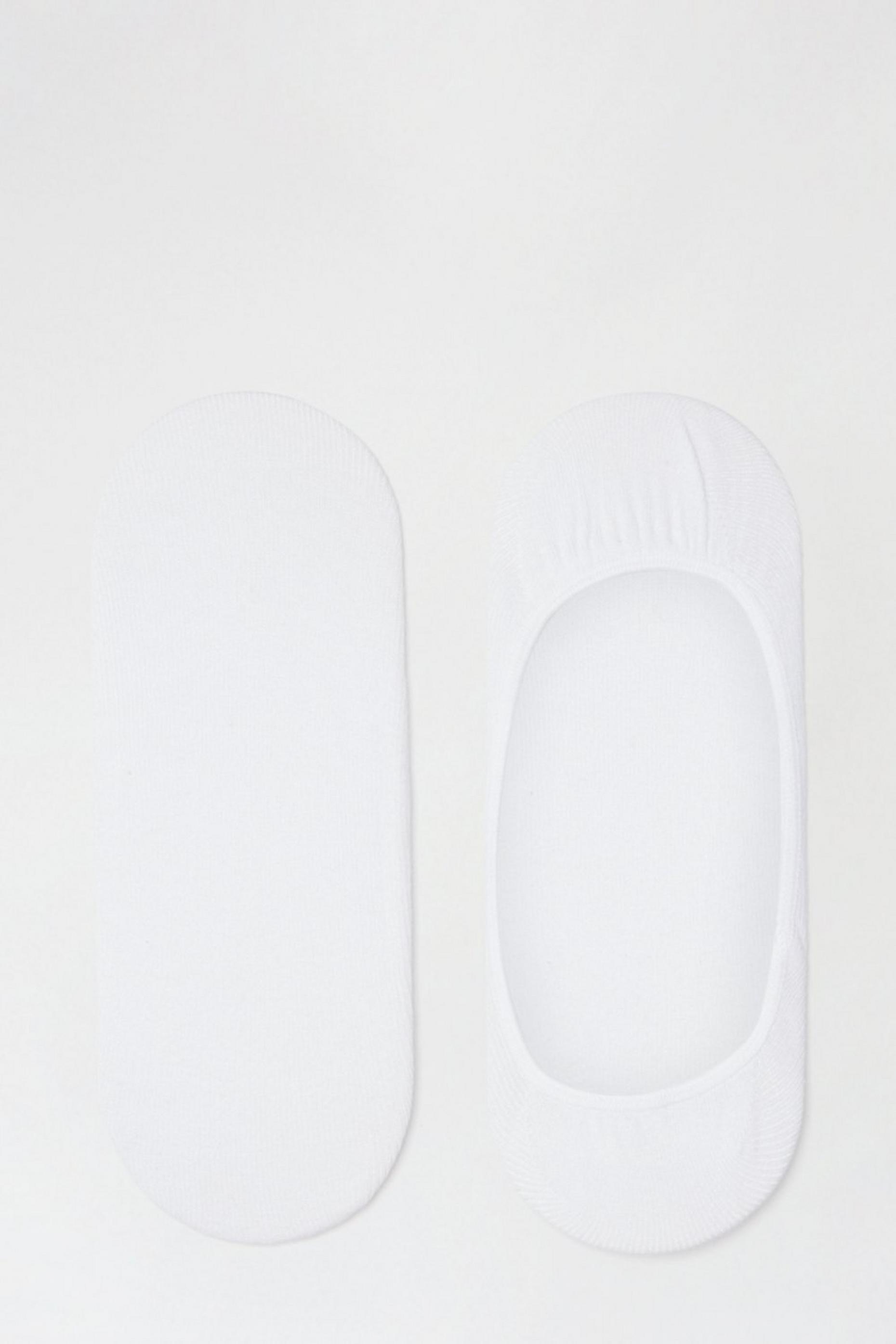 2 Pack White Footsies With Organic Cotton