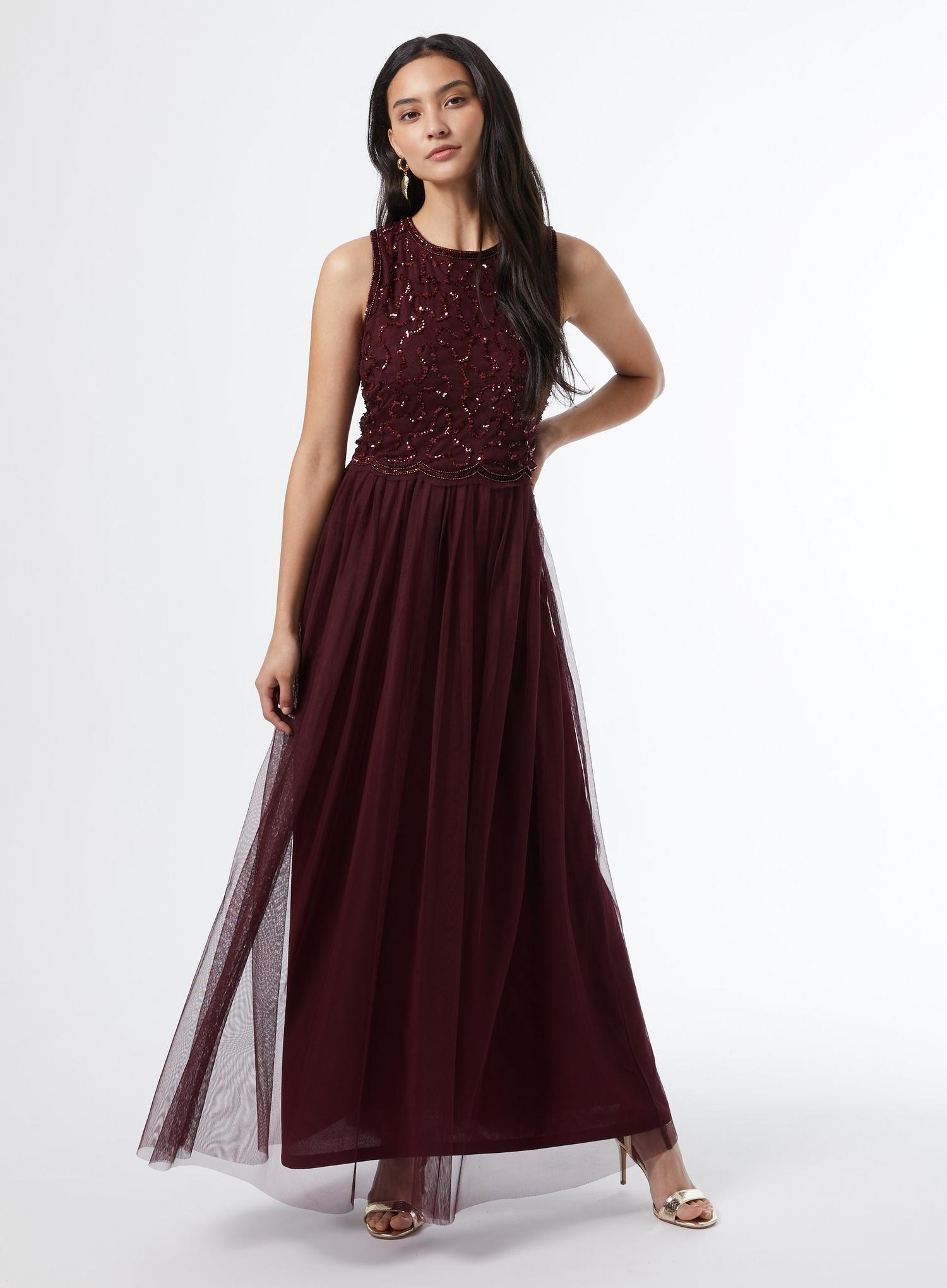 157 Petite Red Maxi Dress image number 1