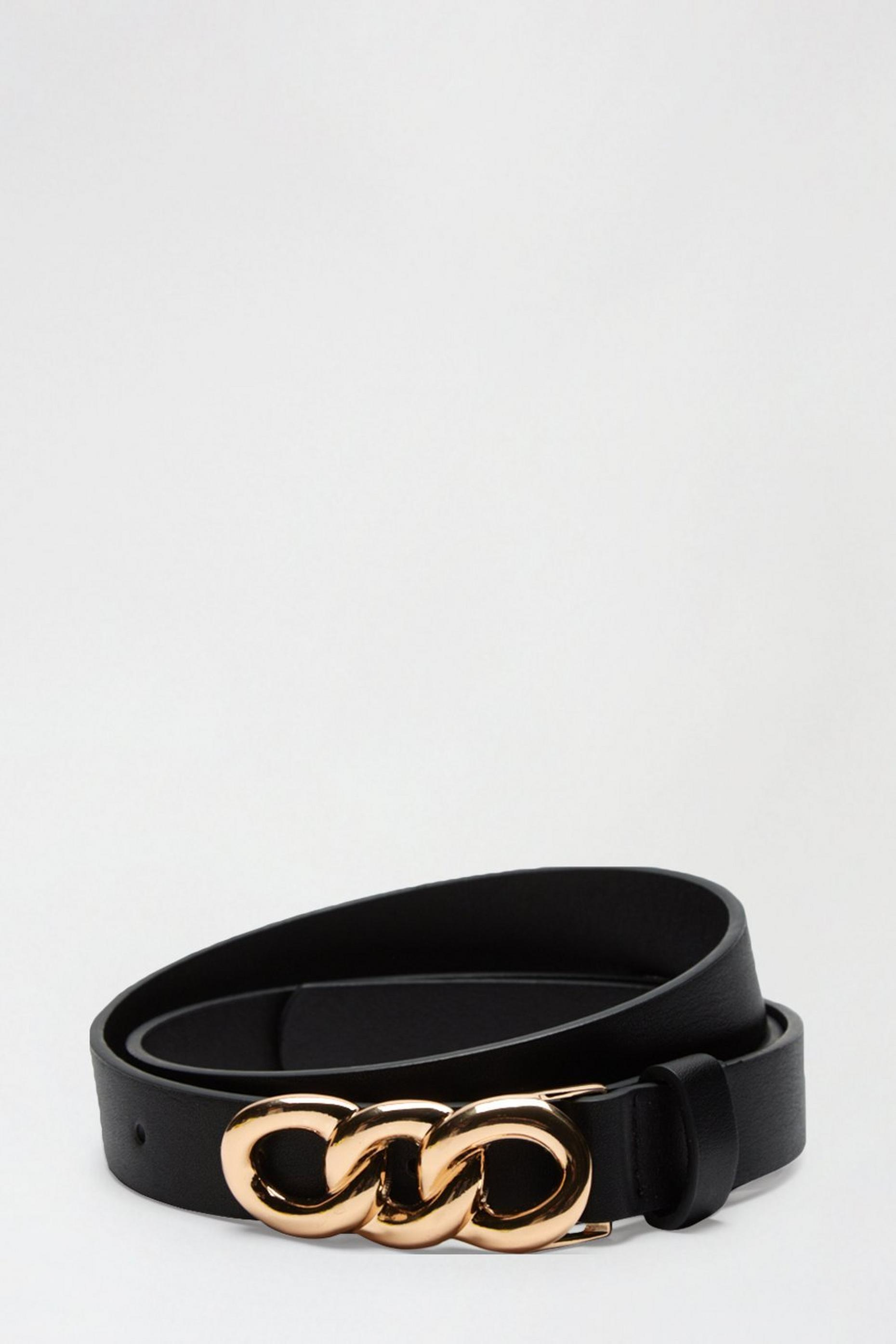 Black Link Hardware Belt