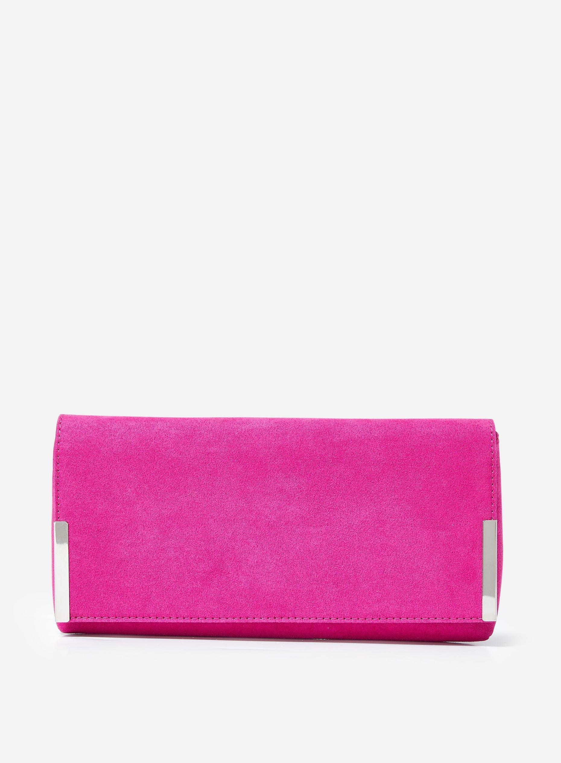 Pink Metal Side Bar Clutch