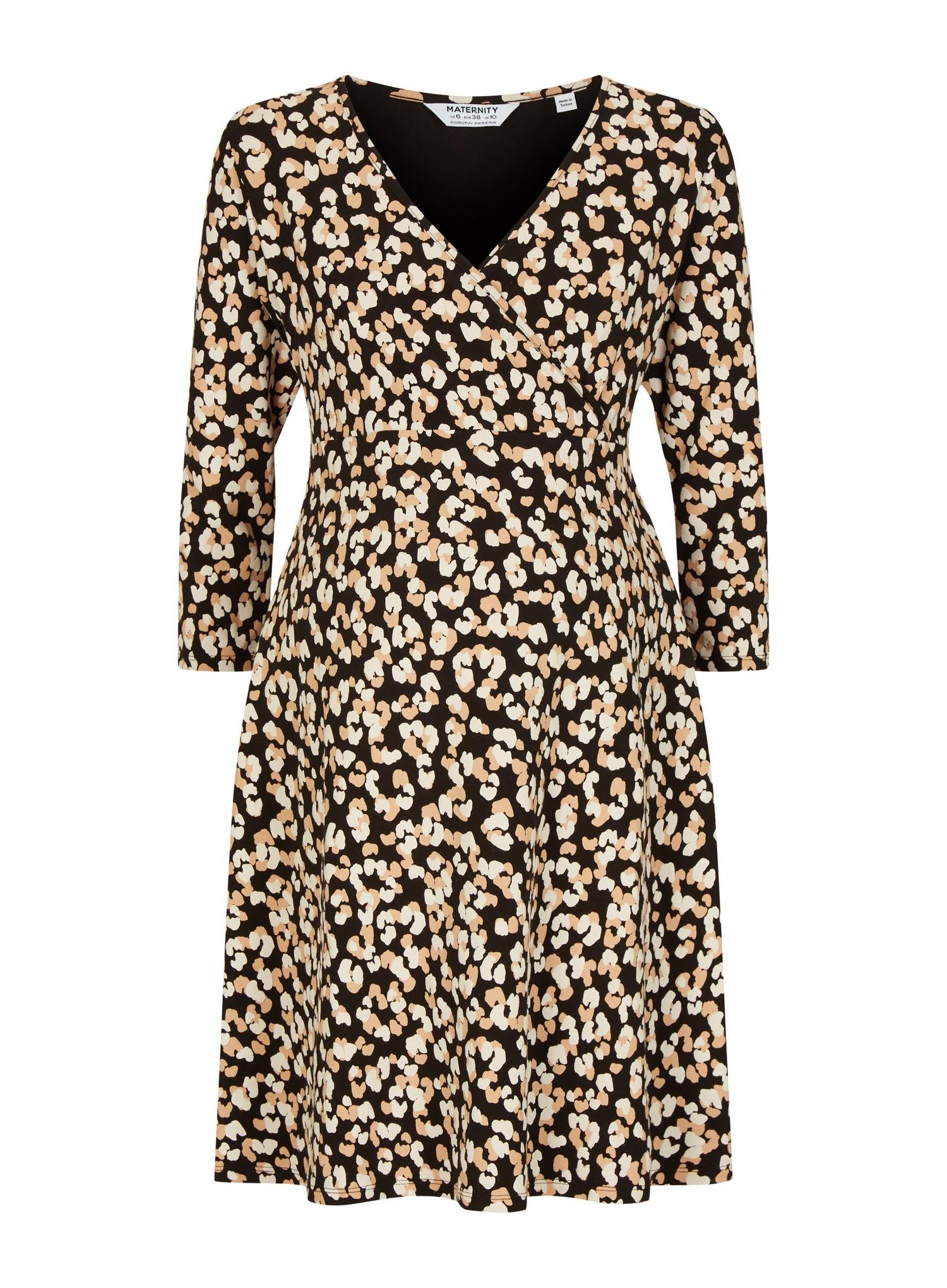 105 Maternity Leopard Wrap Dress image number 2
