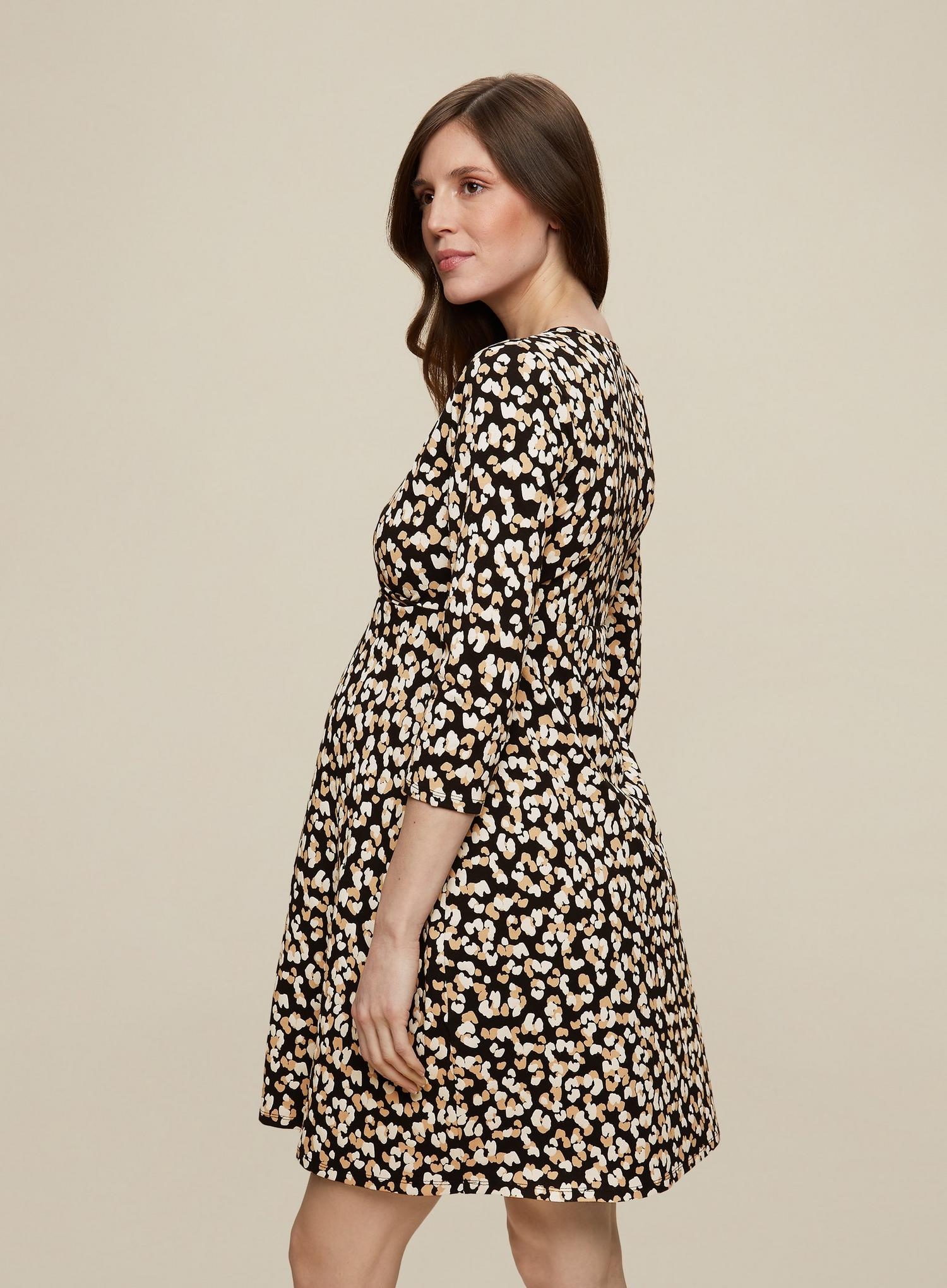 105 Maternity Leopard Wrap Dress image number 4