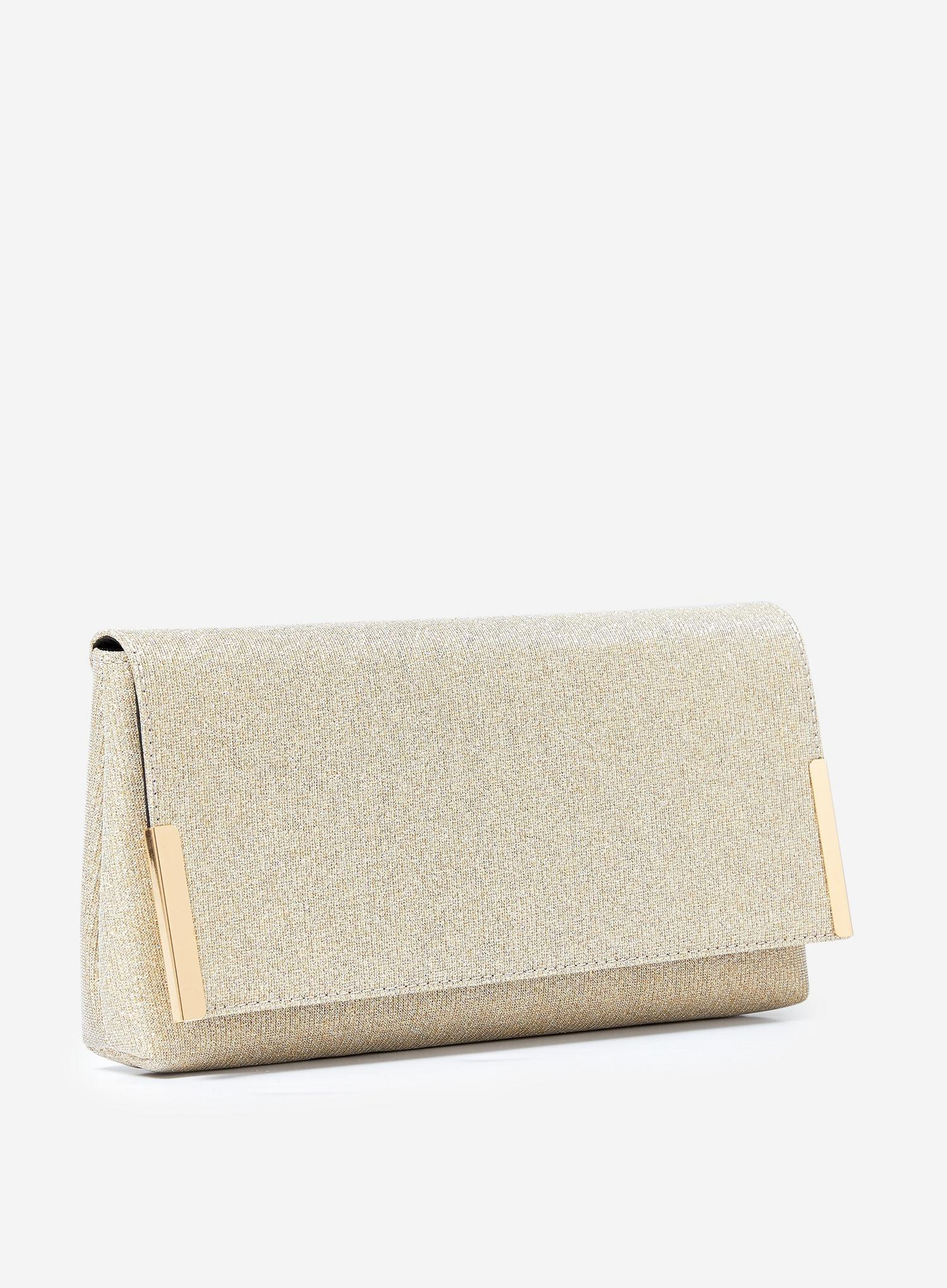 579 Gold Metal Side Bar Clutch Bag image number 2