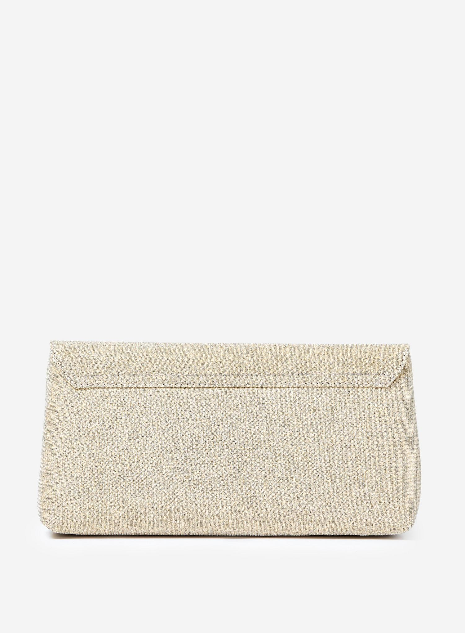579 Gold Metal Side Bar Clutch Bag image number 3
