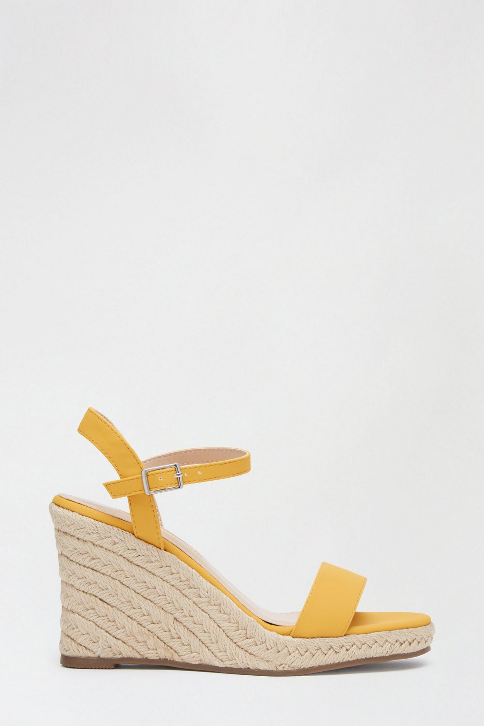 Yellow Ray Ray Wedge Sandals