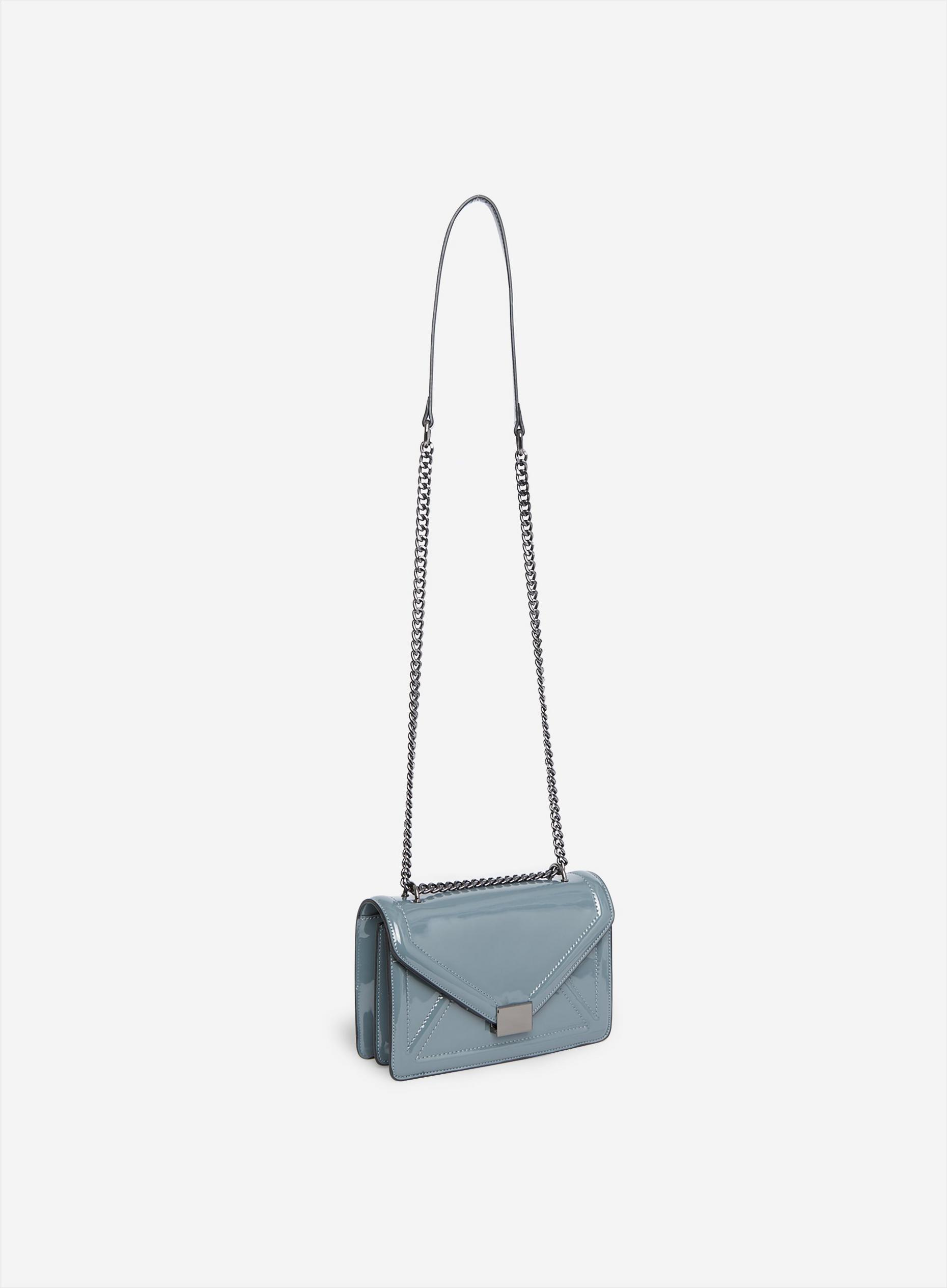 Teal Blue Envelope Boxy Cross Body Bag