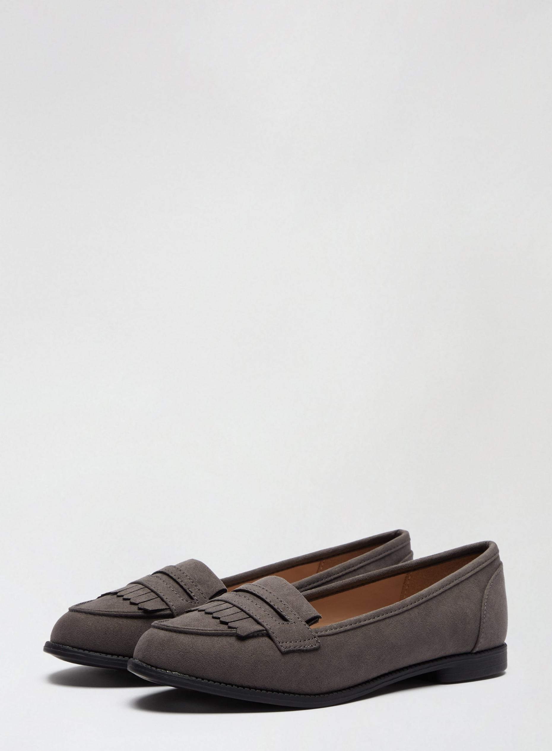 Grey Leo Loafers