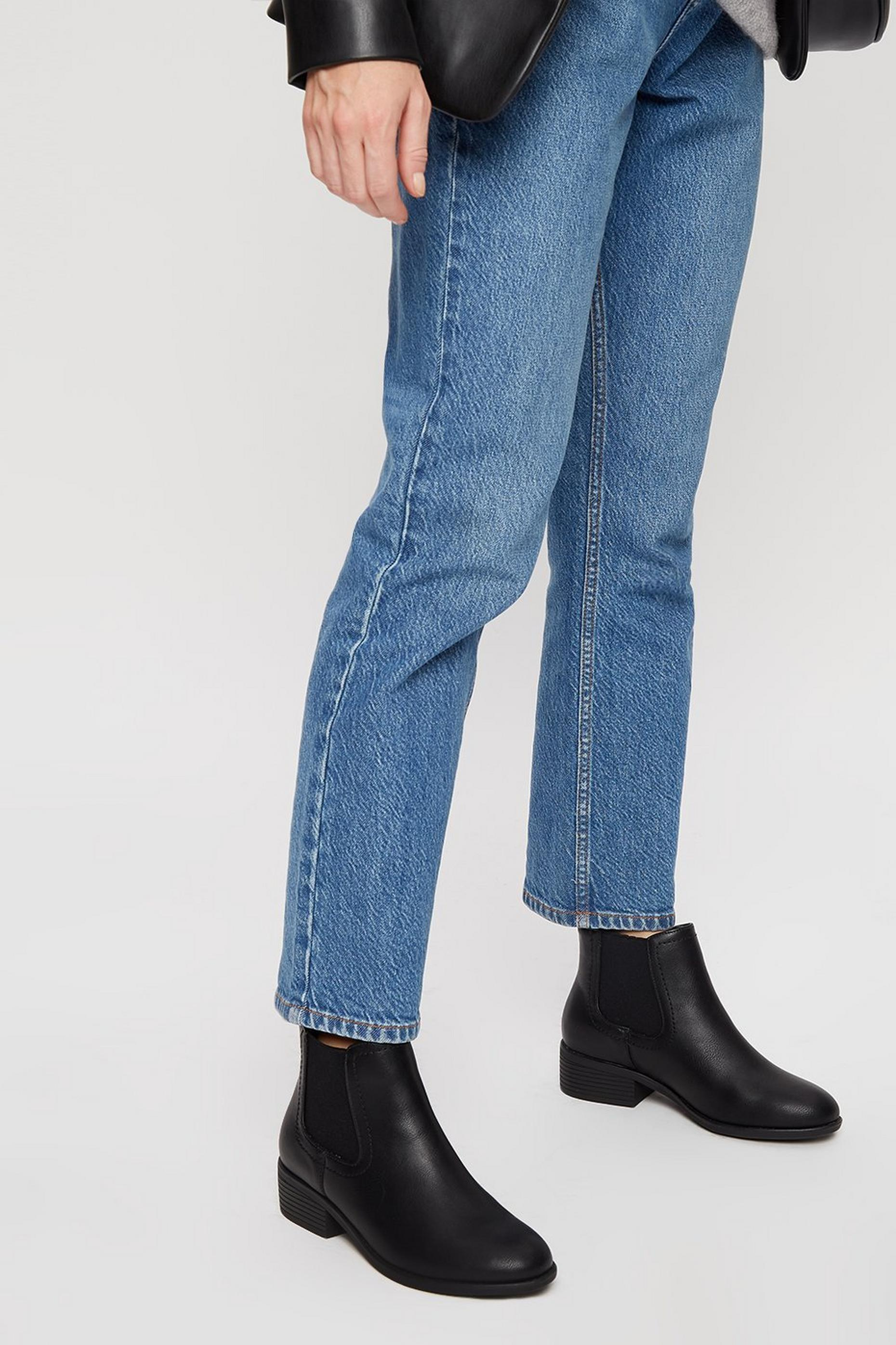 Black PU Maple Chelsea Boots