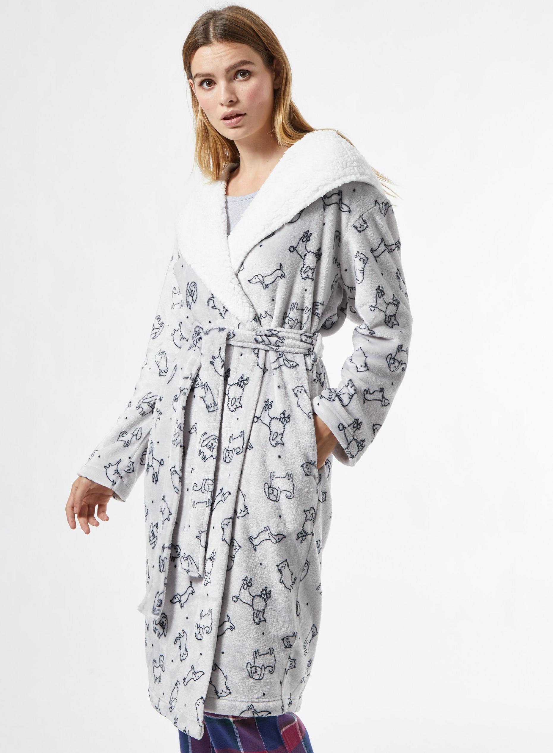 Grey Cats And Dogs Robe