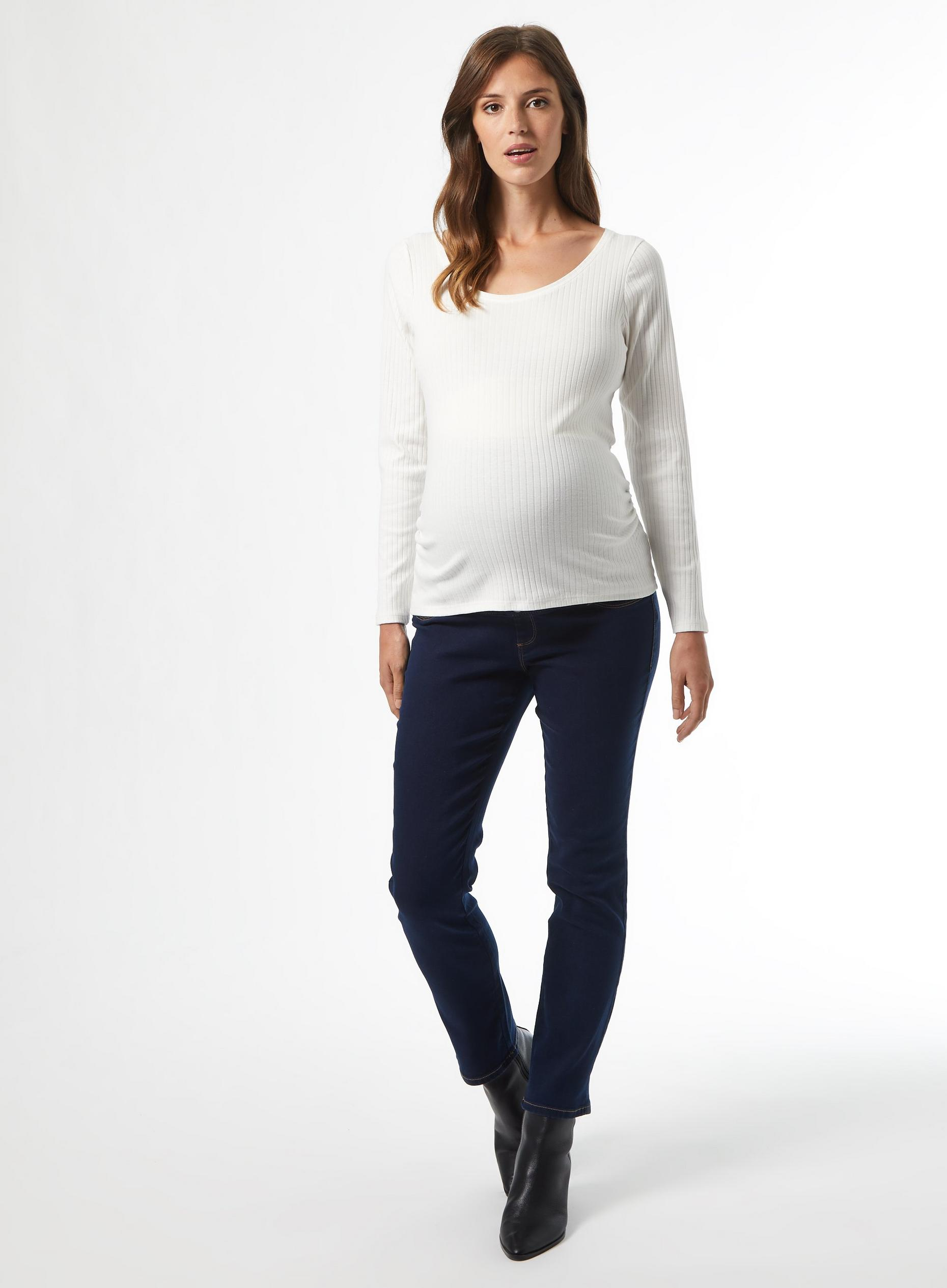 Maternity Ivory Crew Neck Top