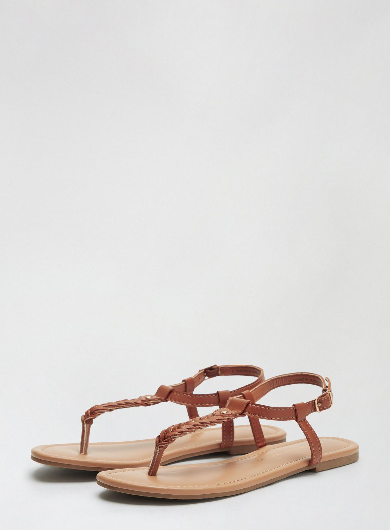 109 Tan Free Sandals image number 1