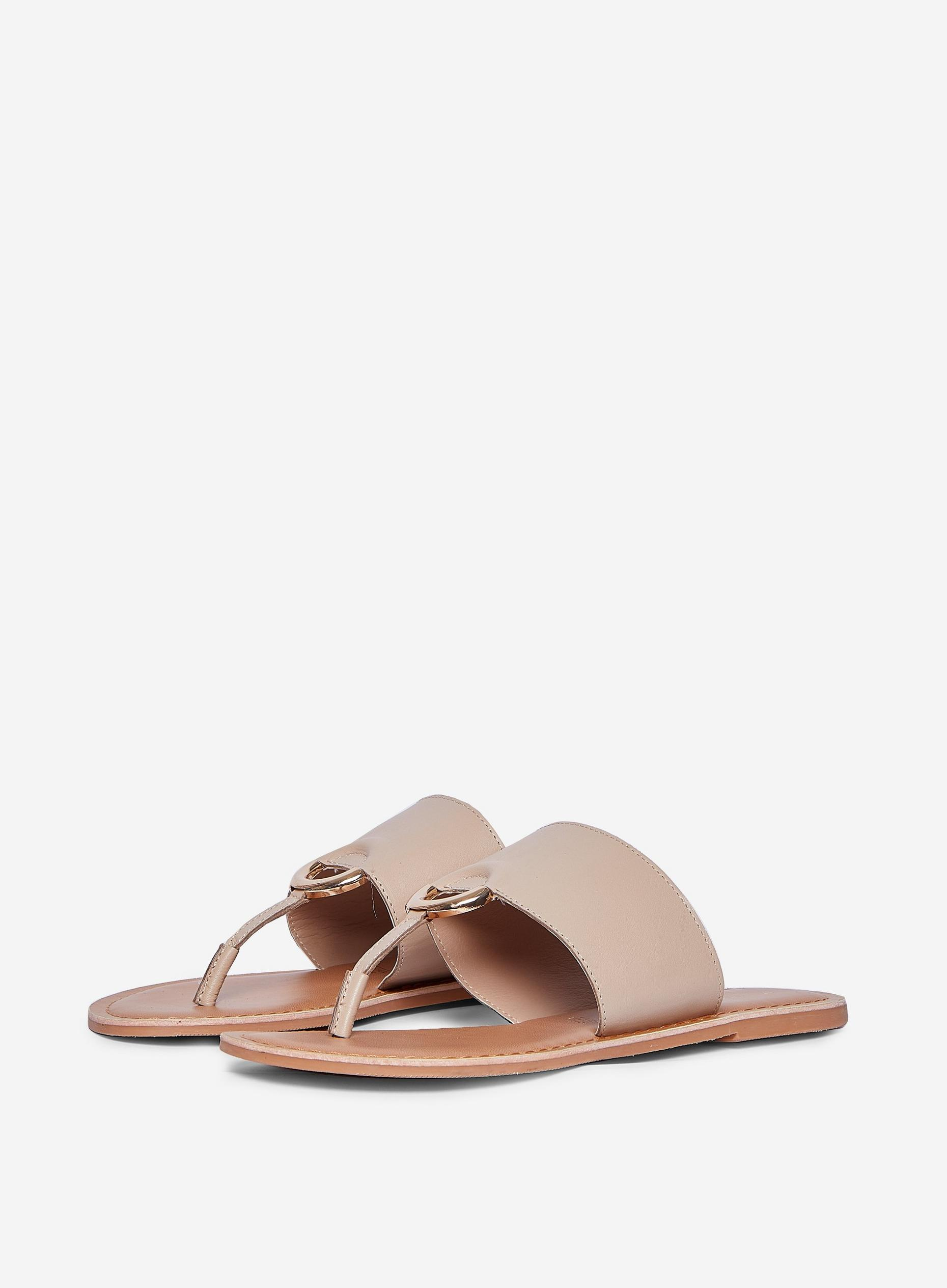 Beige Jenner Leather Sandals