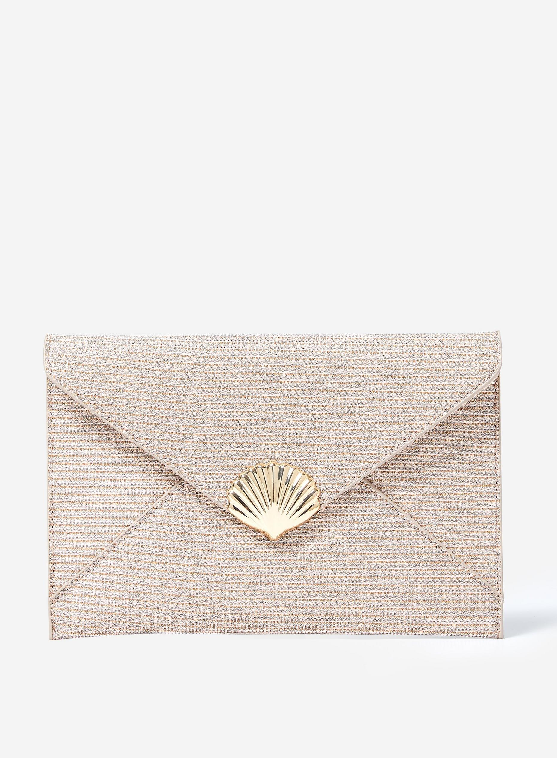 Rose Gold Shell Clutch Bag