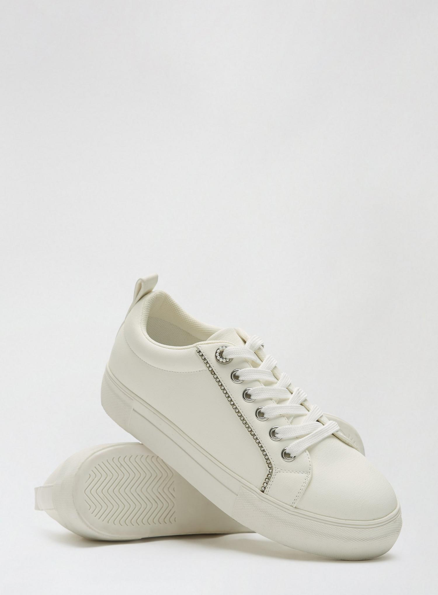 173 White Inaya Trainers image number 4