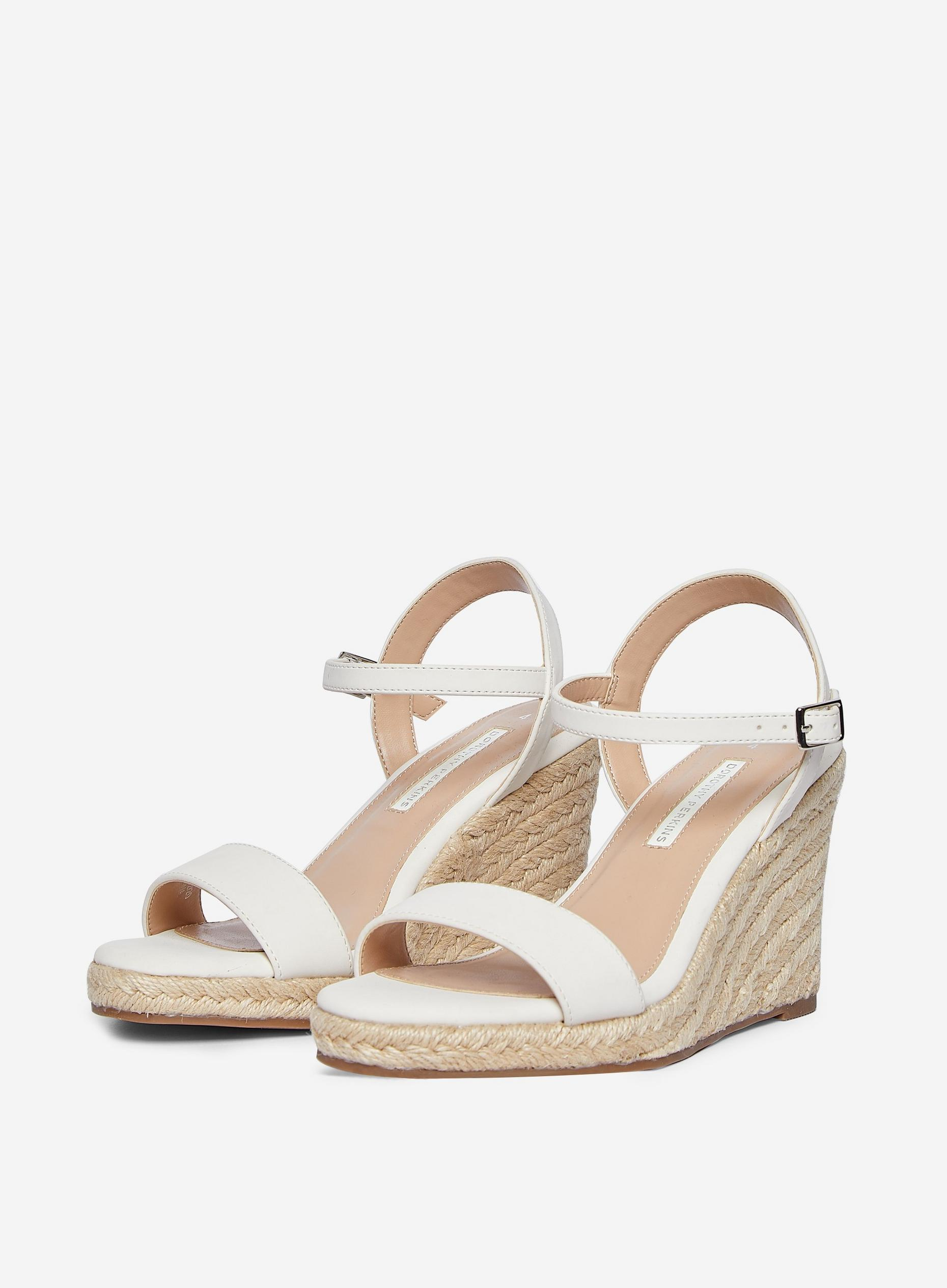 White Ray Ray Wedge Sandals