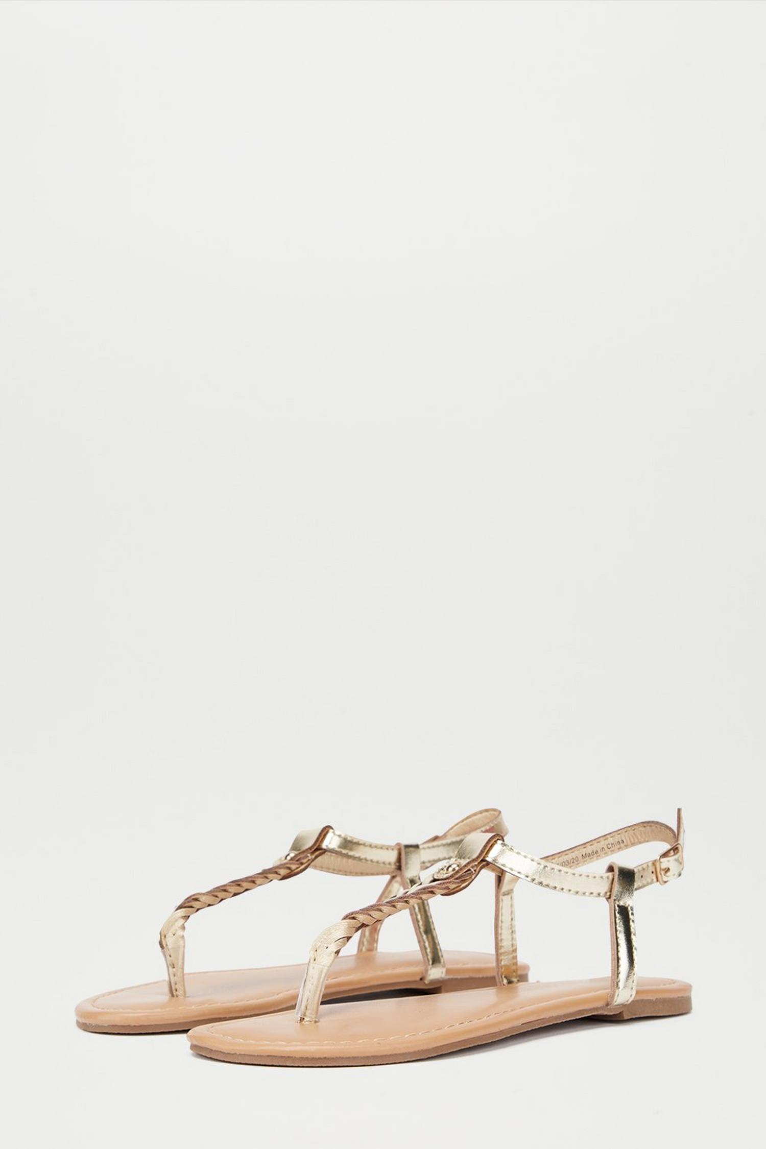 579 Gold Free Sandals image number 2