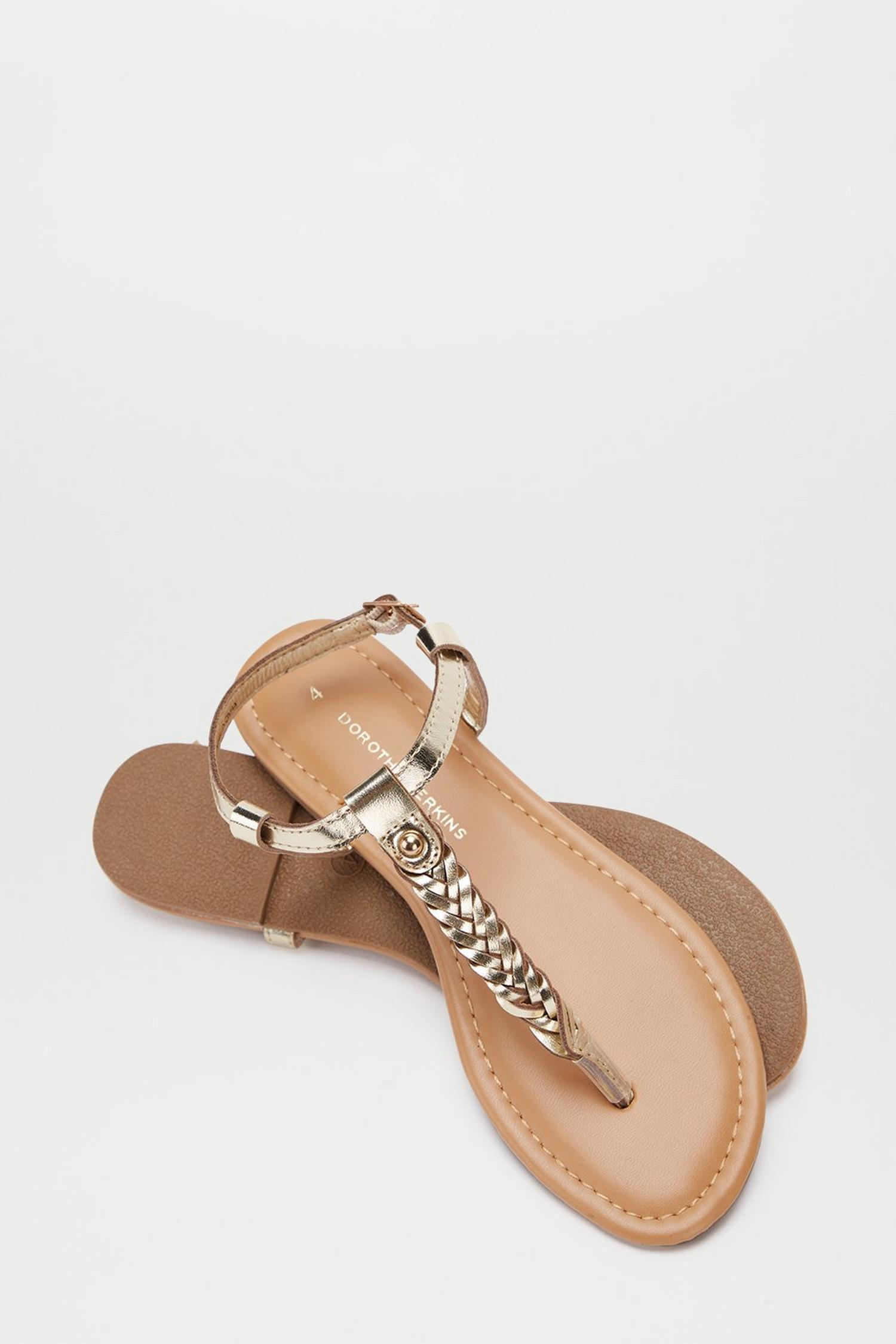 579 Gold Free Sandals image number 3