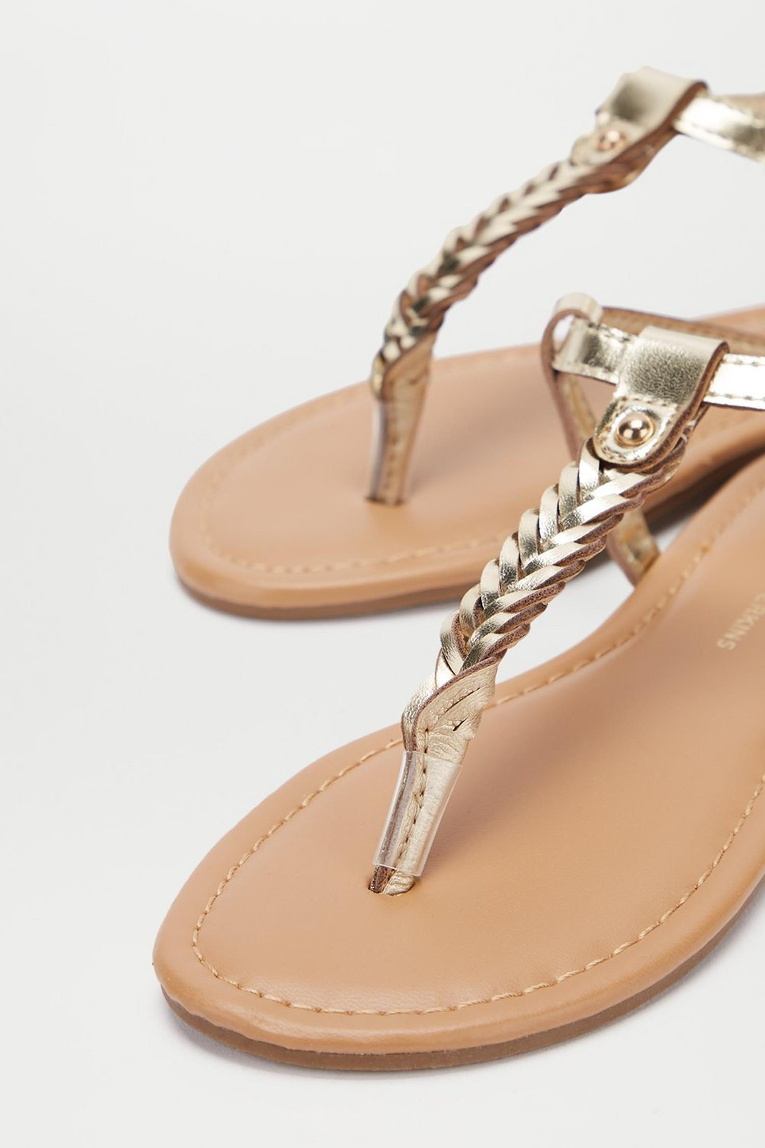 579 Gold Free Sandals image number 4