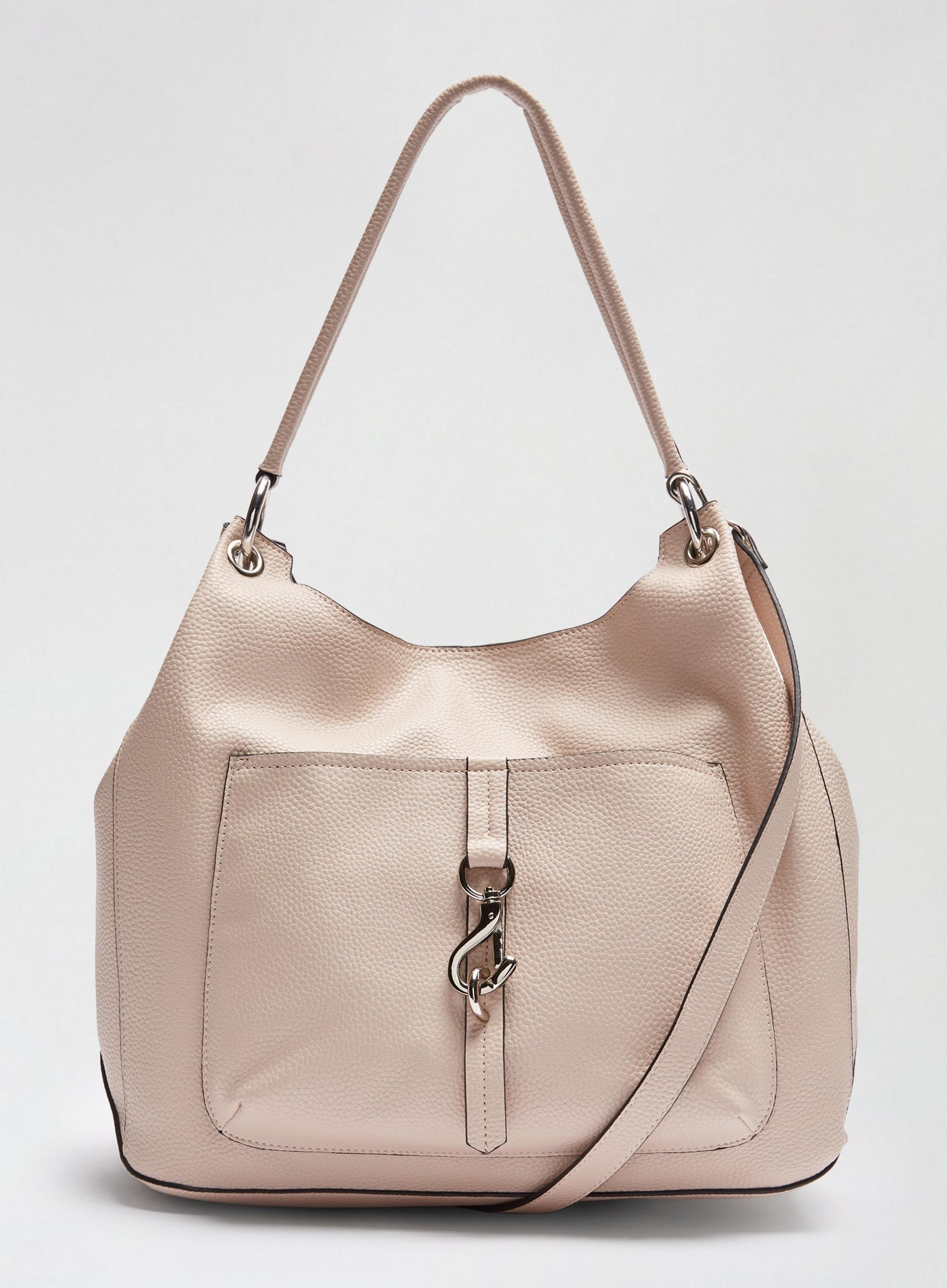 Nude Clip Front Hobo Bag